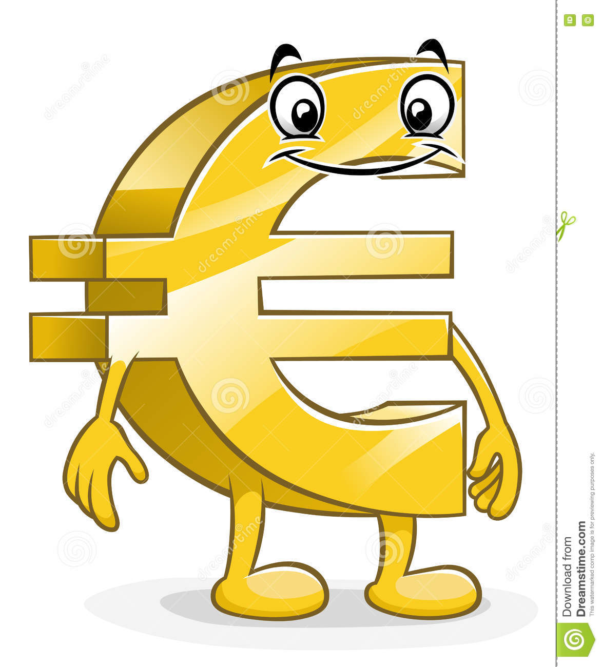 Funny Cartoon Euro Stock Vector Illustration Of Currency 71442828
