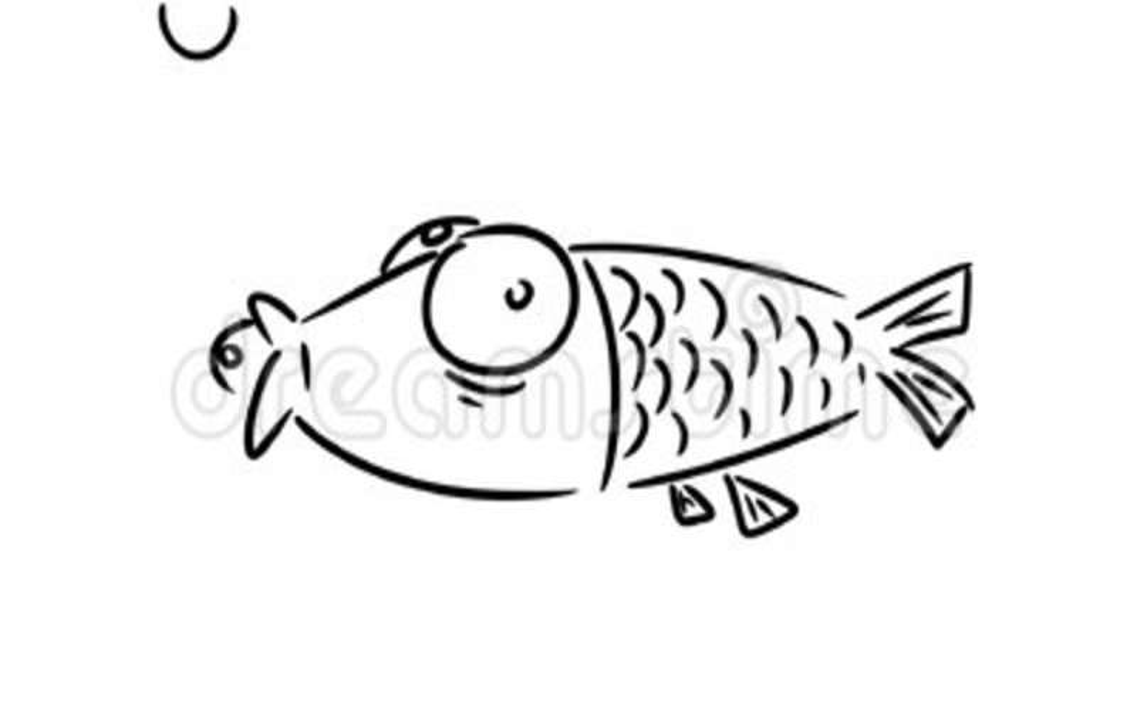 Funny Cartoon Fish. Hand Drawn Cartoon Animation. Stock Footage ...