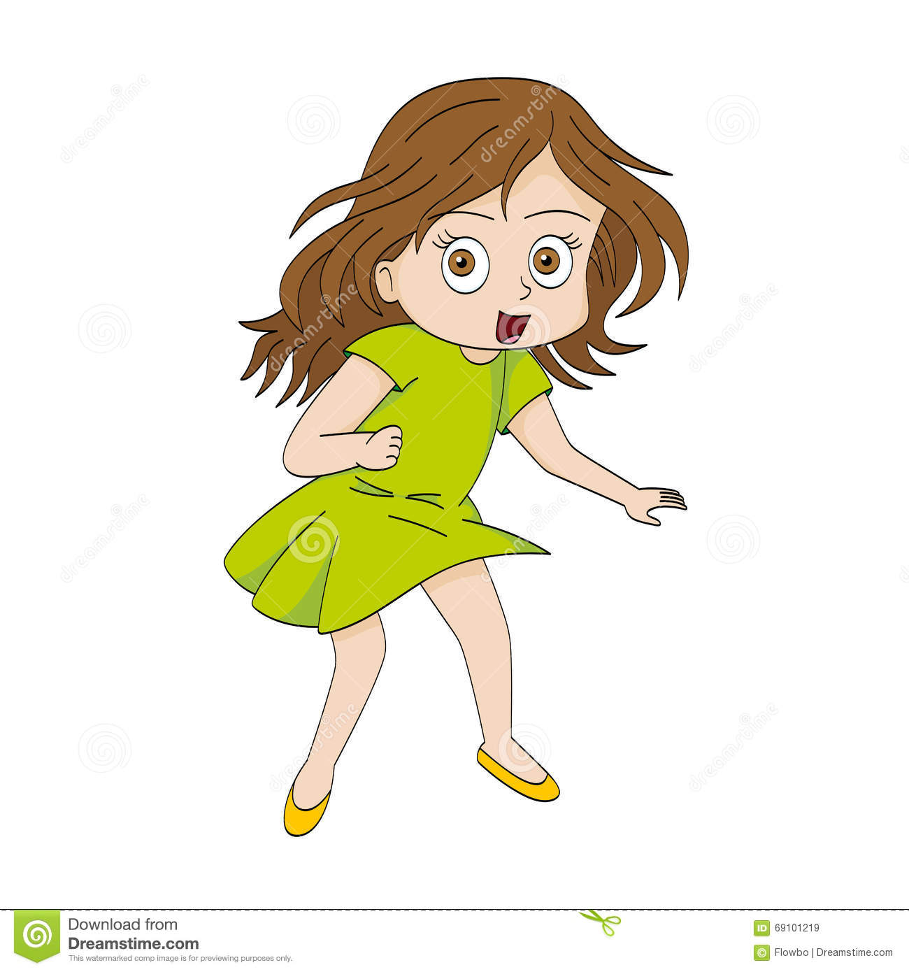 Funny cartoon girl stock vector. Image of comic, child ...