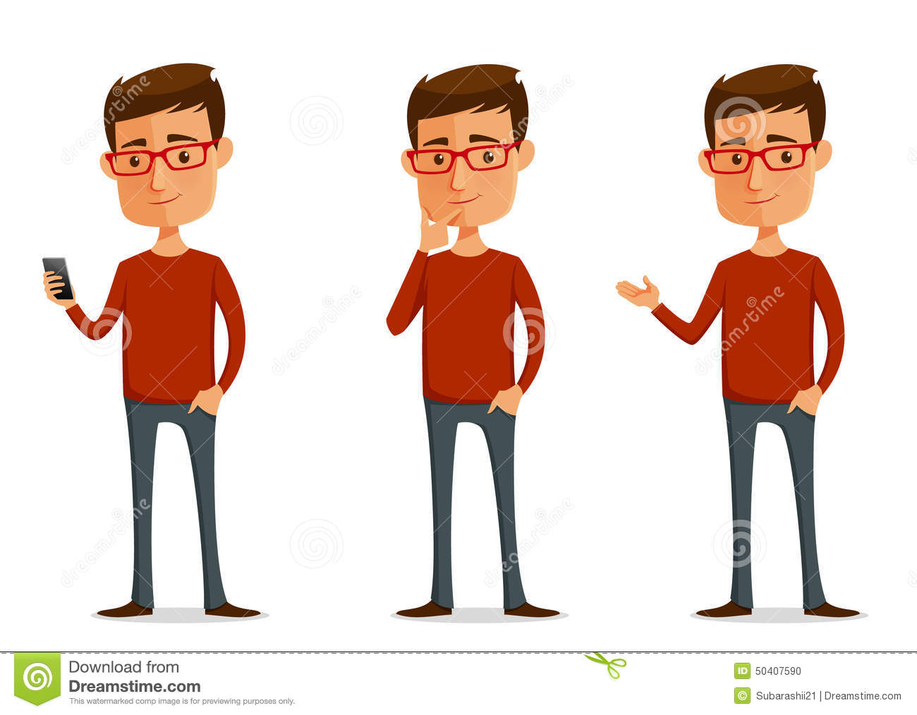 Guy with Sunglasses Clip Art
