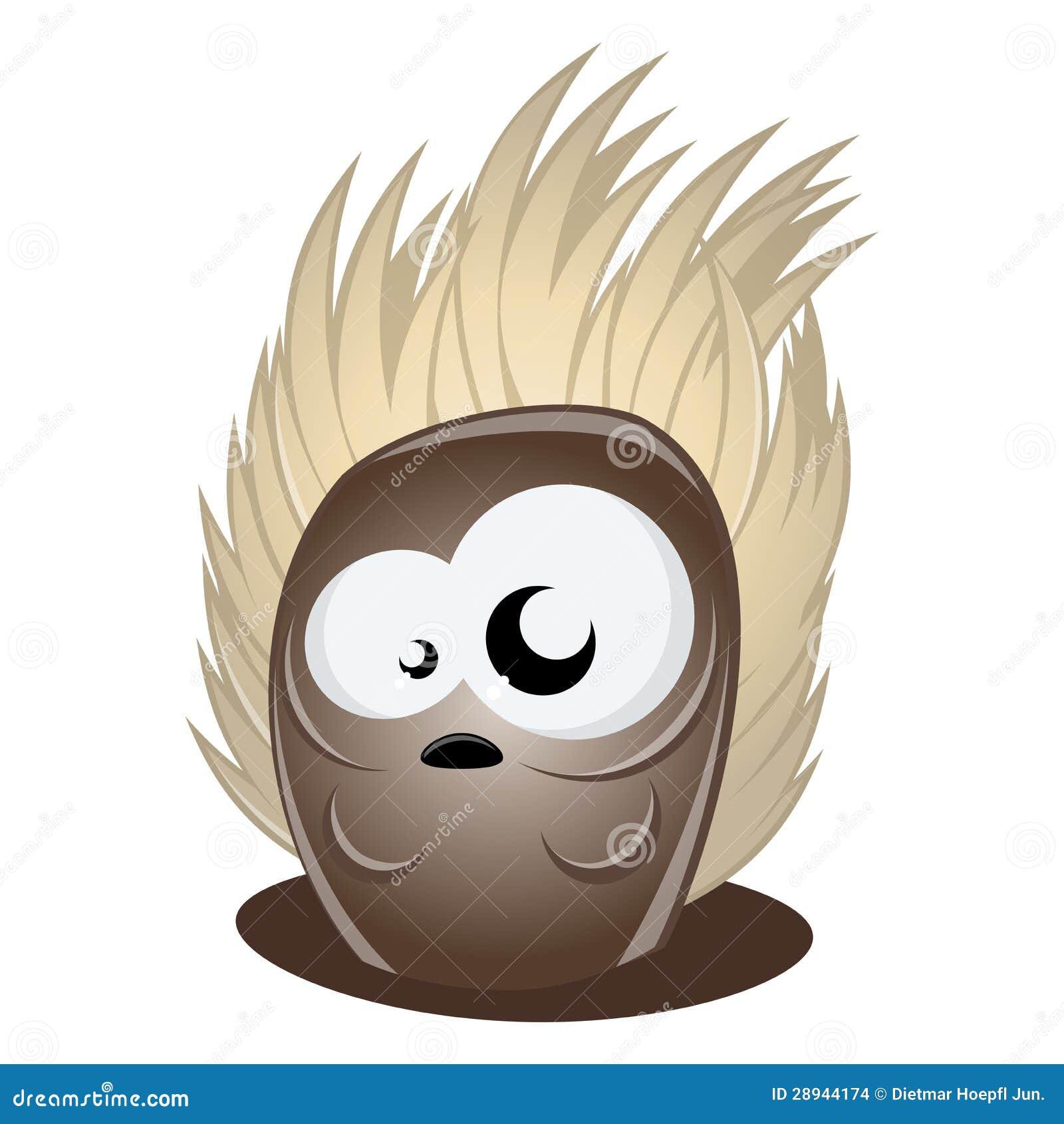 Funny Cartoon Hedgehog Stock Images Image 28944174