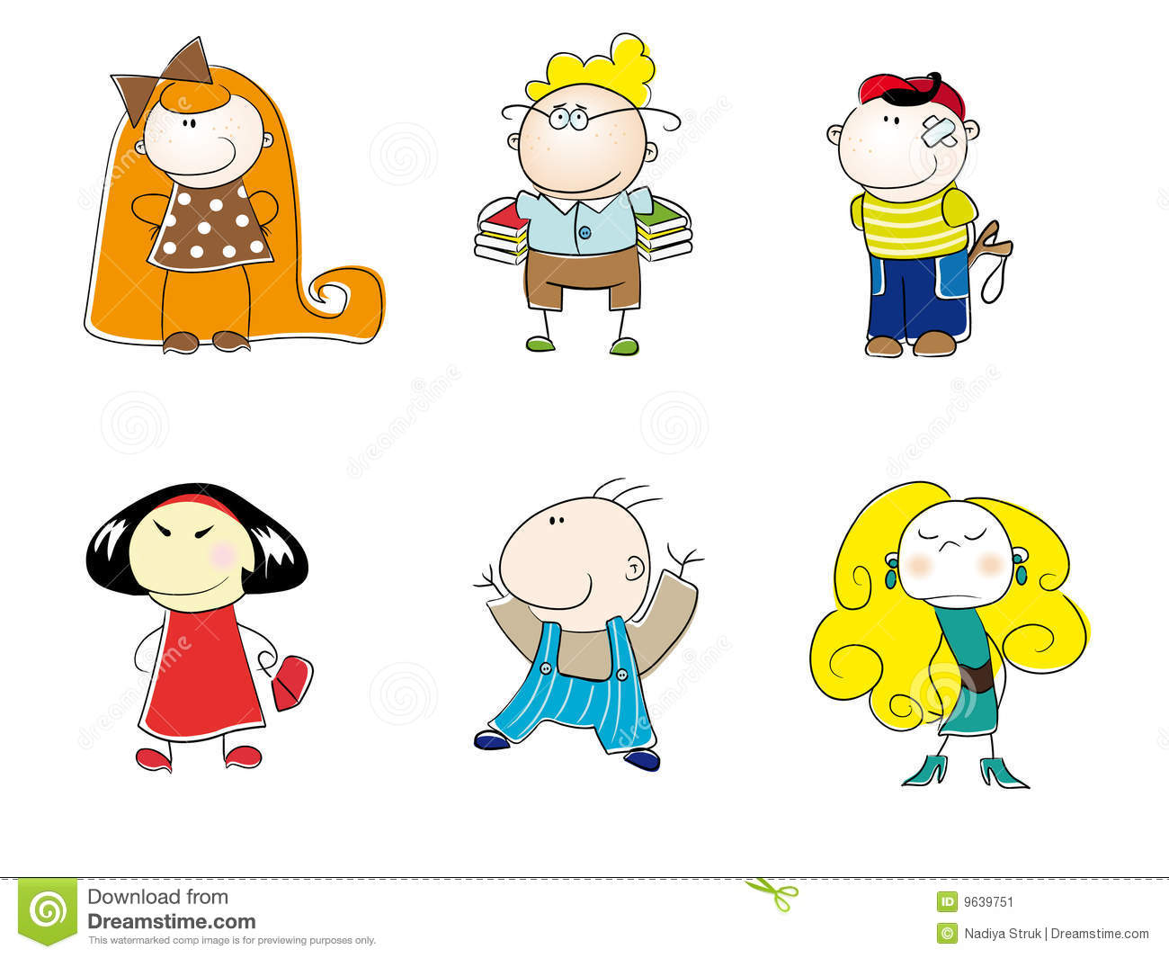 funny cartoon kids stock illustration image of blondie