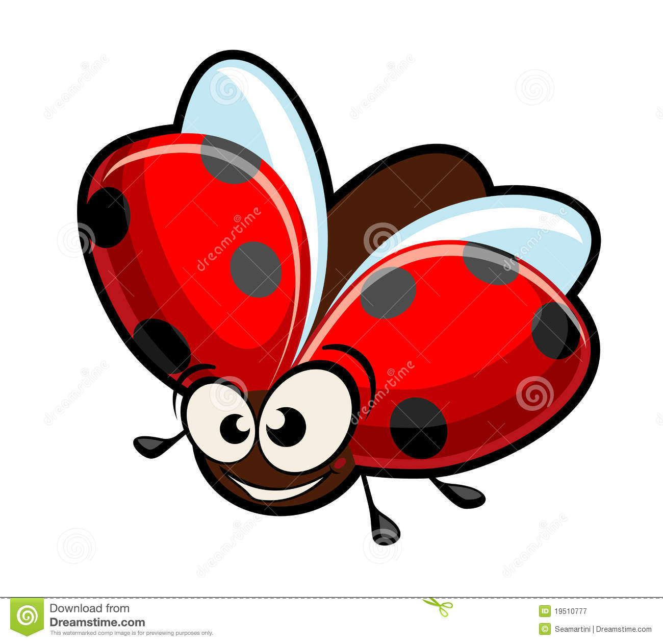 Funny Cartoon Ladybug Stock Vector Illustration Of Icon 19510777