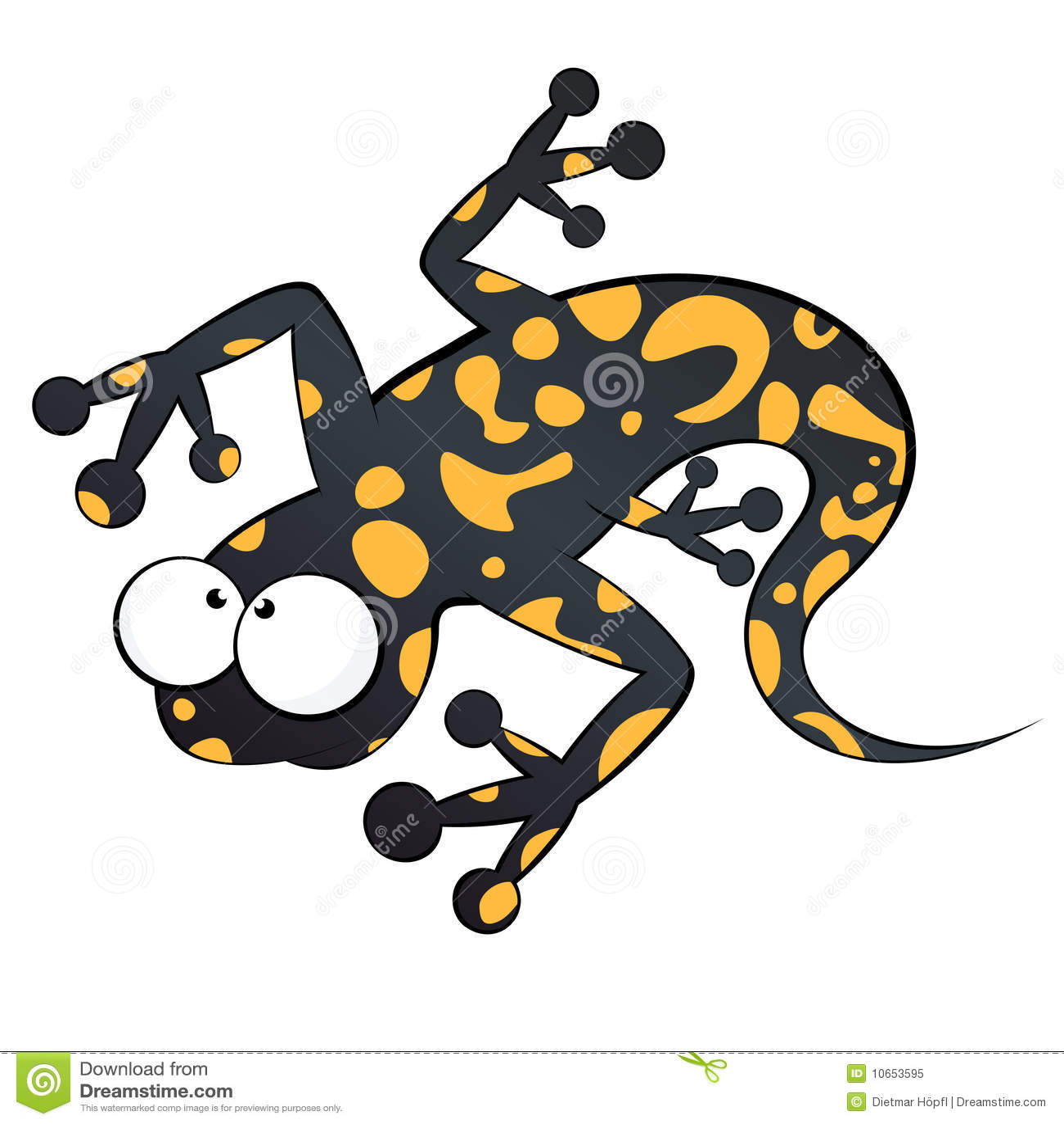 Funny cartoon lizard stock vector. Illustration of goggle - 10653595