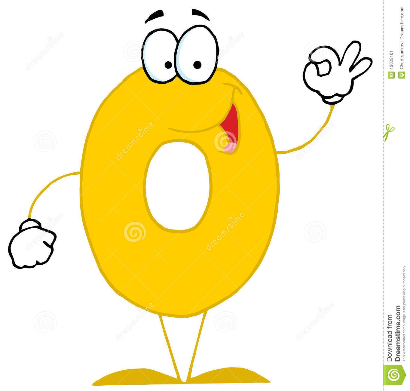 Funny cartoon numbers 0 stock image image 13023101