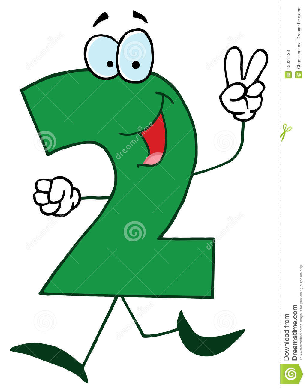 funny cartoon numbers 2 royalty free stock photos   image