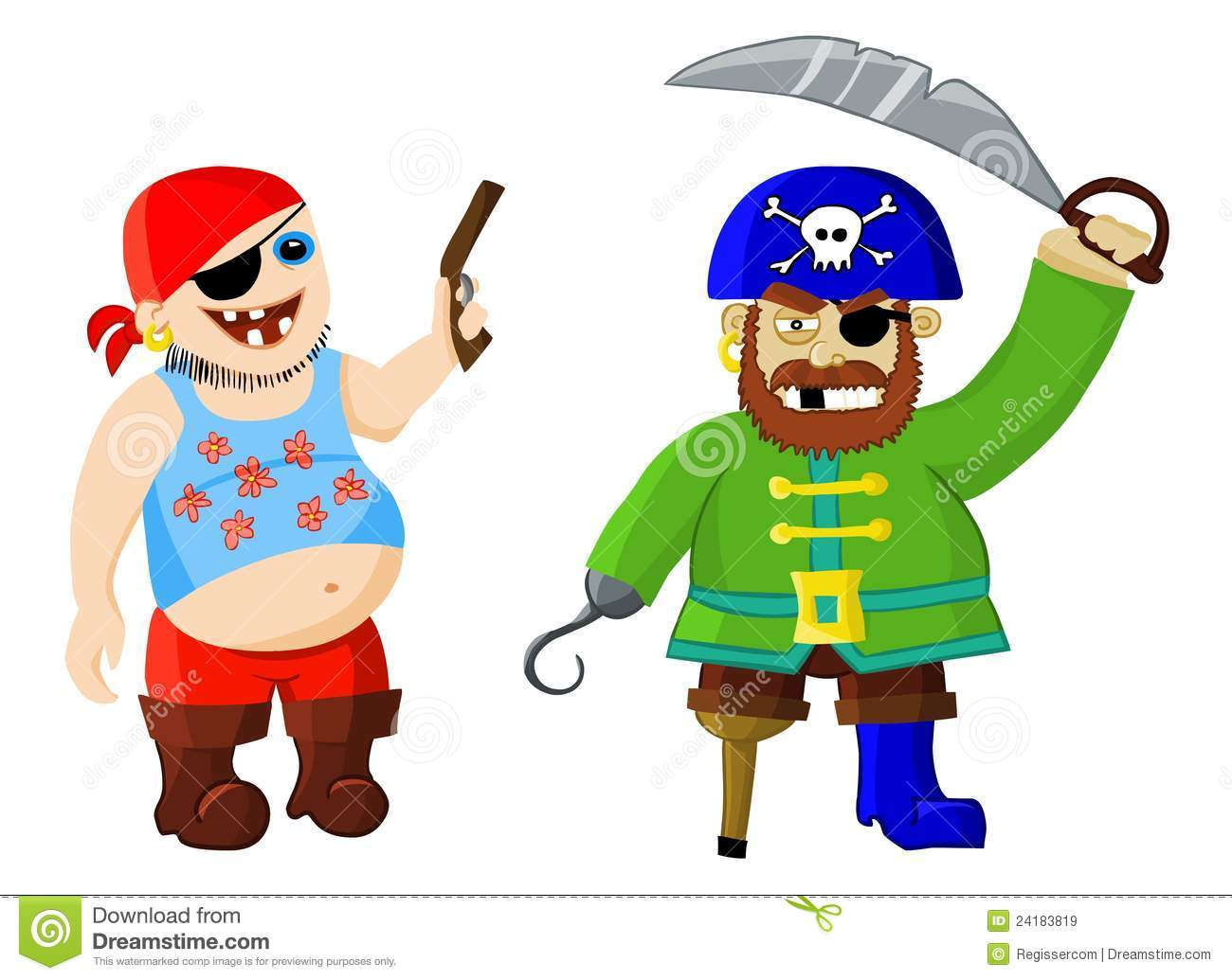 Pirate Hat Drawing Funny cartoon pirates ...