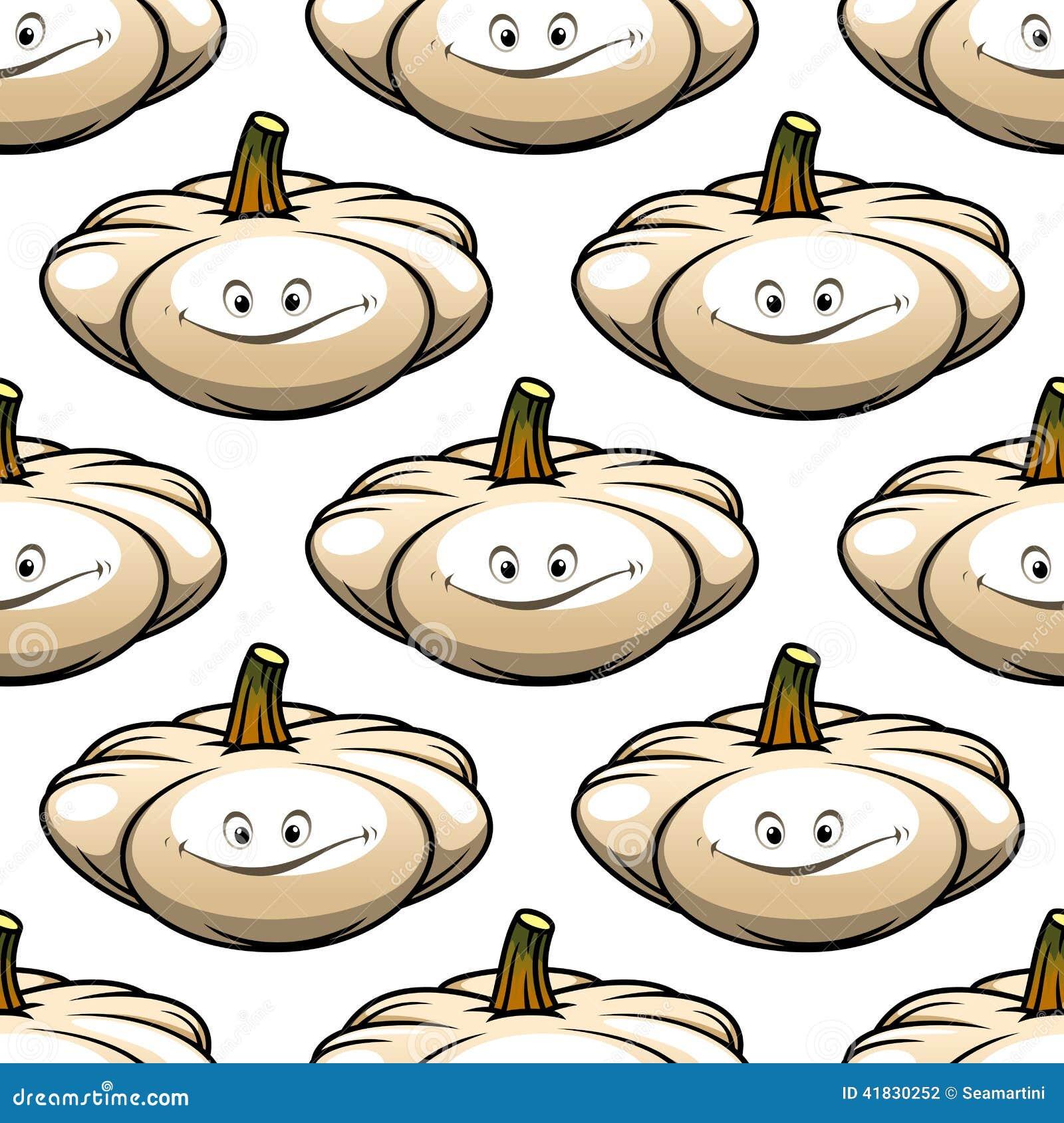 Funny cartoon pumpkin seamless pattern stock vector for Cartoon pumpkin patterns