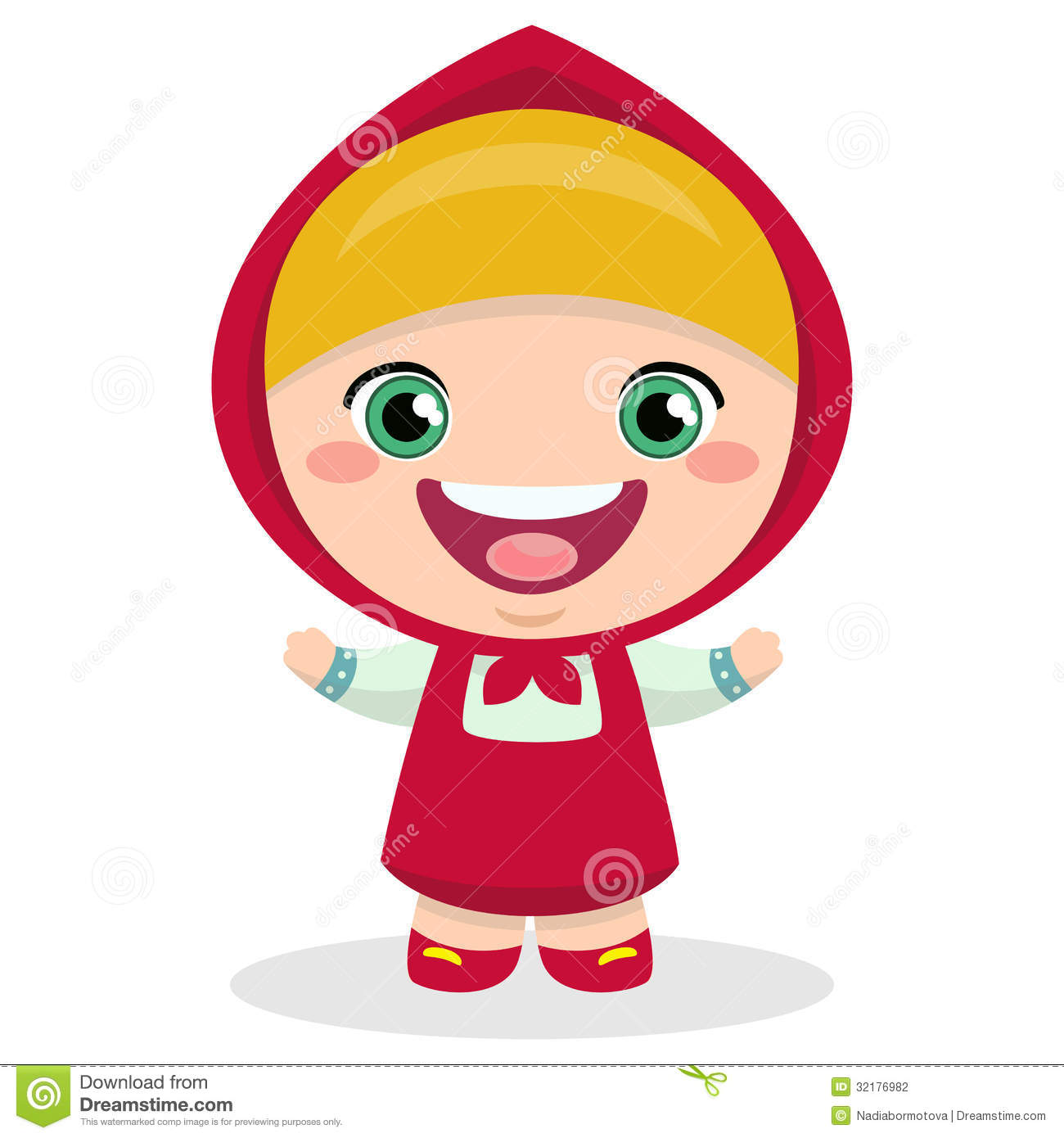 Funny cartoon Russian girl stock vector. Image of colorful ...