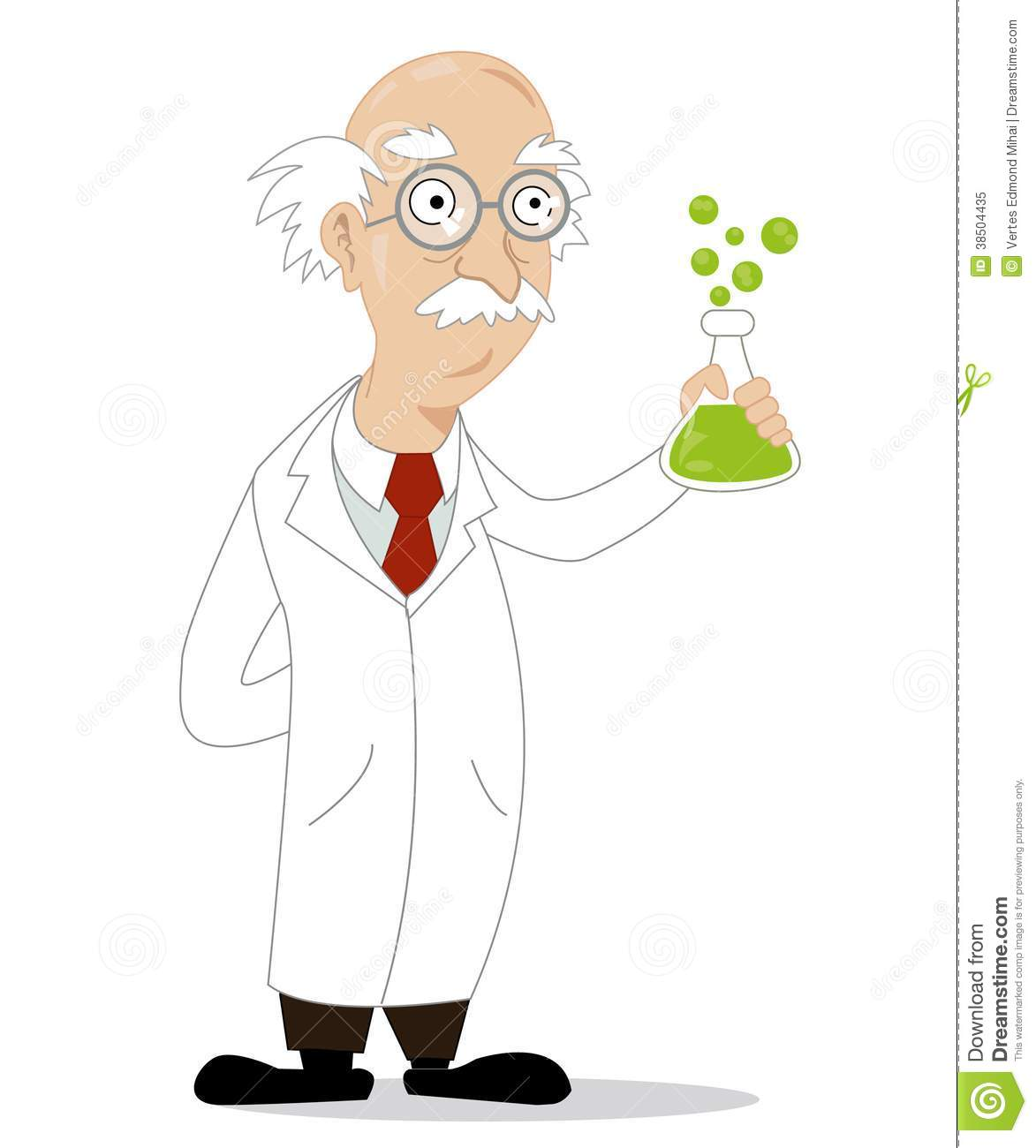 Funny Cartoon Scientist Royalty Free Stock Photo - Image: 38504435