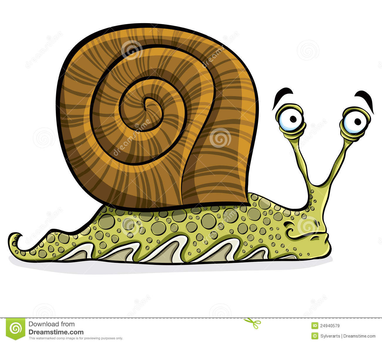 Funny Cartoon Snail, Vector. Royalty Free Stock Images - Image ...