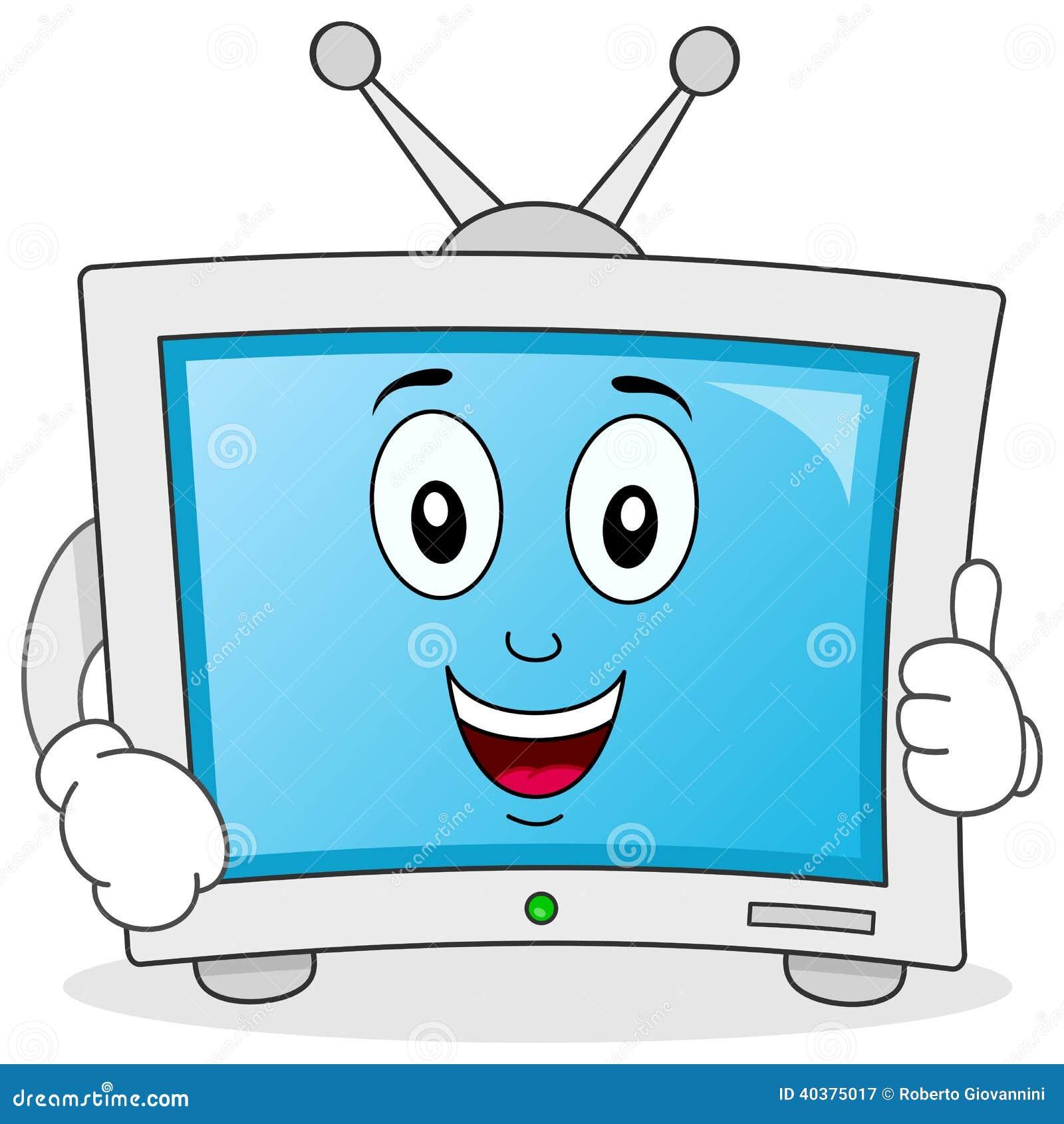 Funny Cartoon Television Character Stock Vector