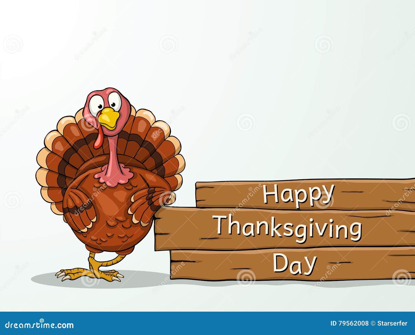 Funny Cartoon Thanksgiving Turkey Stock Vector Illustration Of