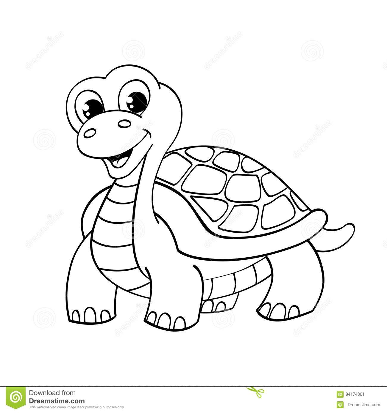 This is a photo of Peaceful Turtle Cartoon Drawing