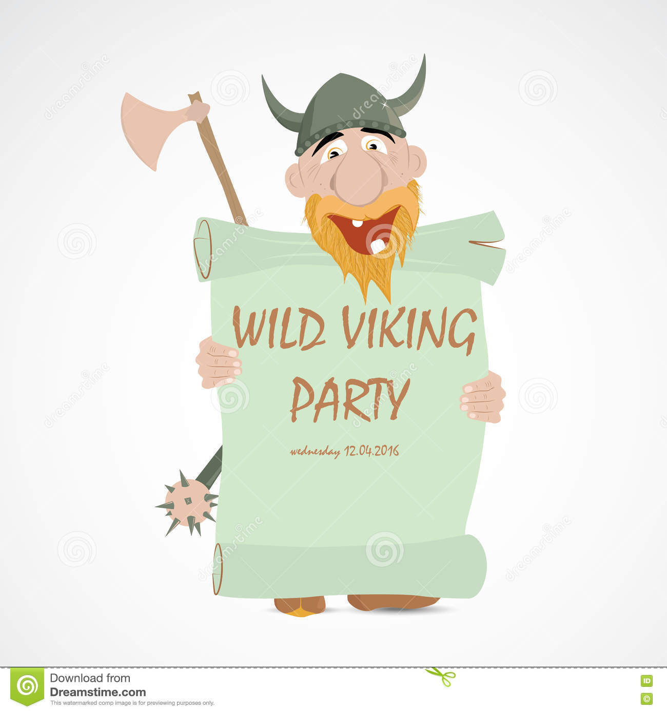 Funny Cartoon Viking Stock Vector Illustration Of Keep 74376347