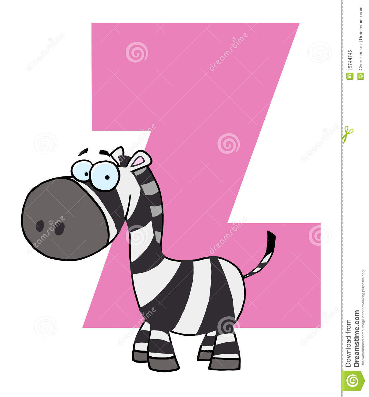 Cartoon Characters Letter Z : Funny cartoons alphabet z royalty free stock photo image