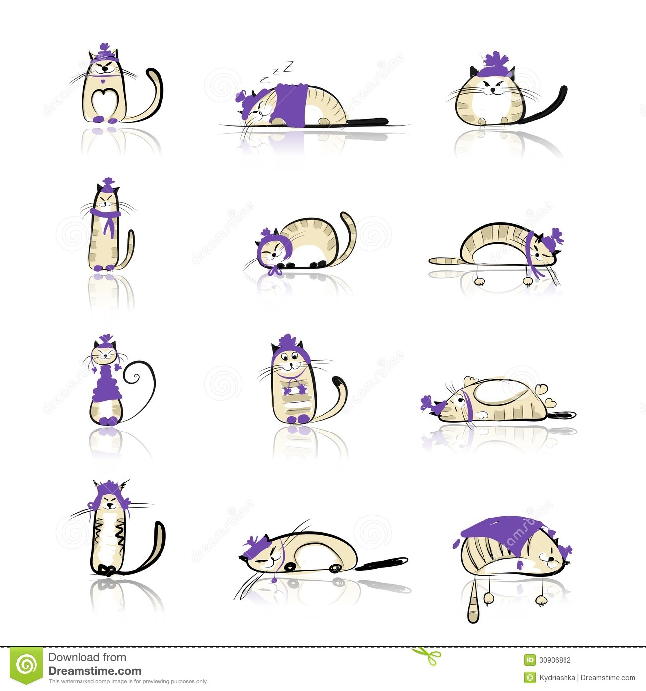 Stock Photography Funny Cats Collection Fashion Clothes Your Design File Eps Format Image30936862 on file symbol thumbs up color