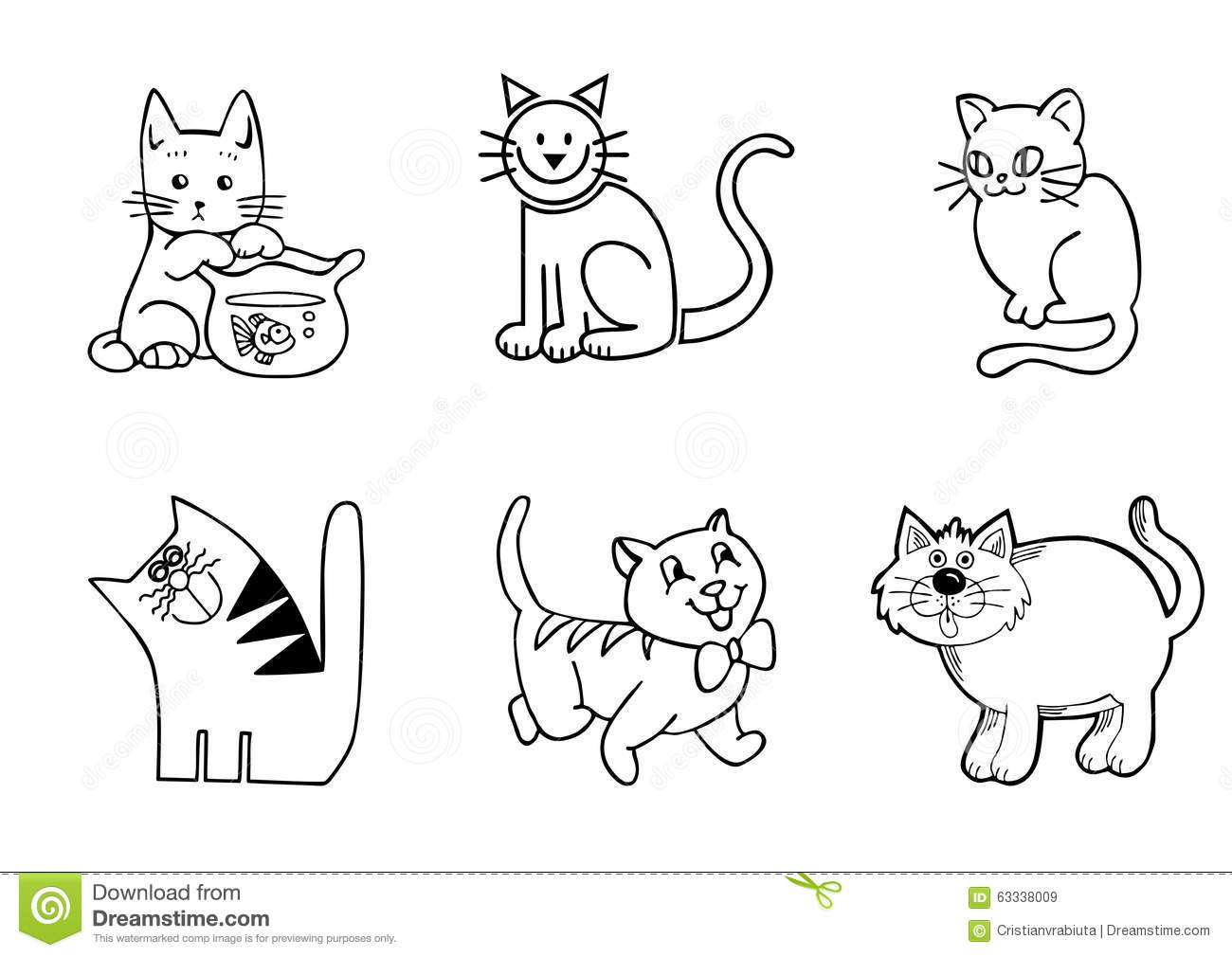 how to draw a cat funny