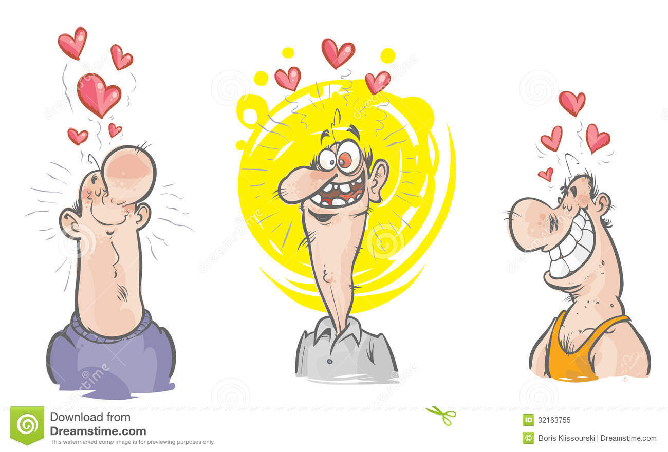 Cartoon Characters Love : Funny characters in love royalty free stock photo image