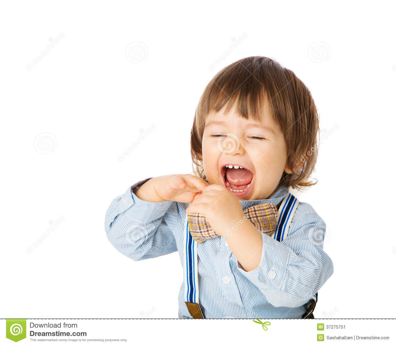 Funny Cheerful Baby Stock Image - Image: 37275751