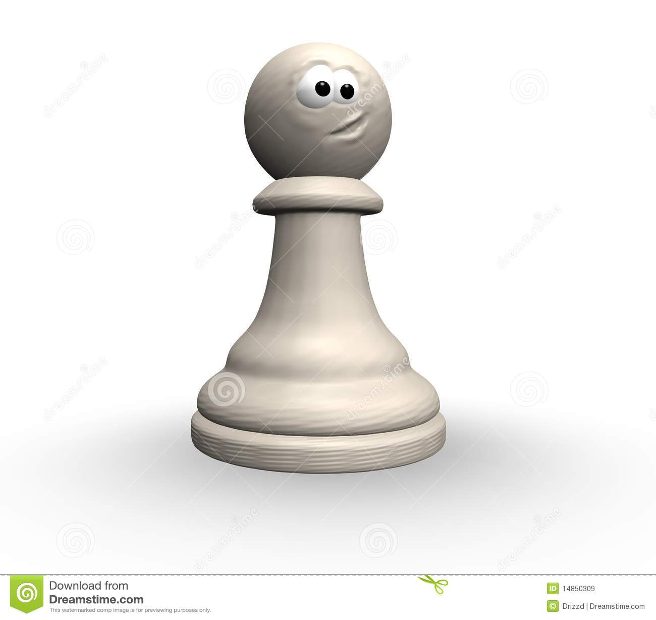 Funny chess pawn