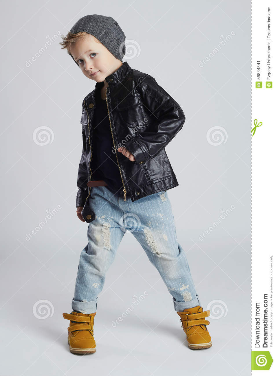 8098098ee939 Funny Child.fashionable Little Boy In Hat Stock Image - Image of ...