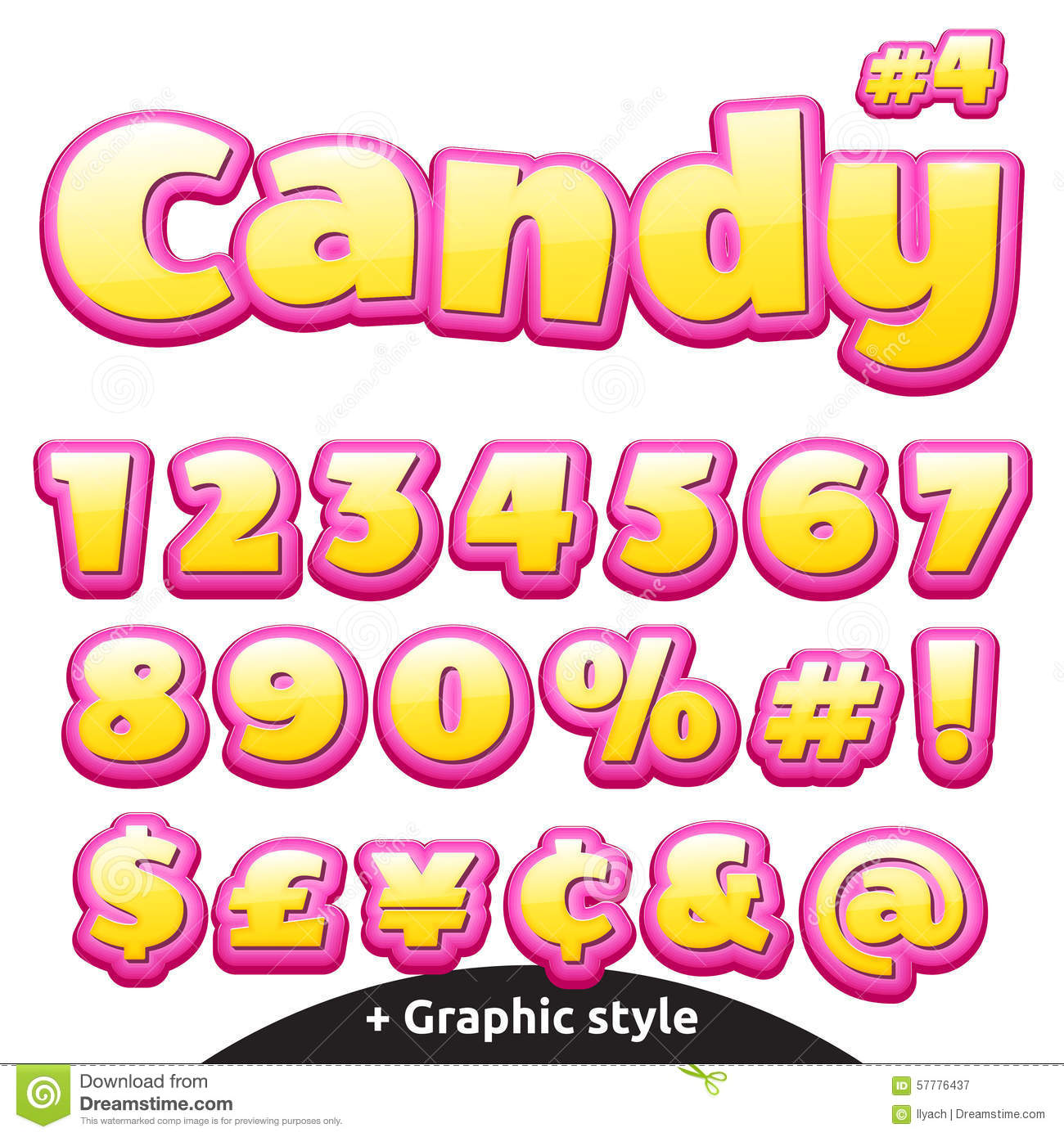 Funny Children's Candy Letters Set  Numbers And Symbols
