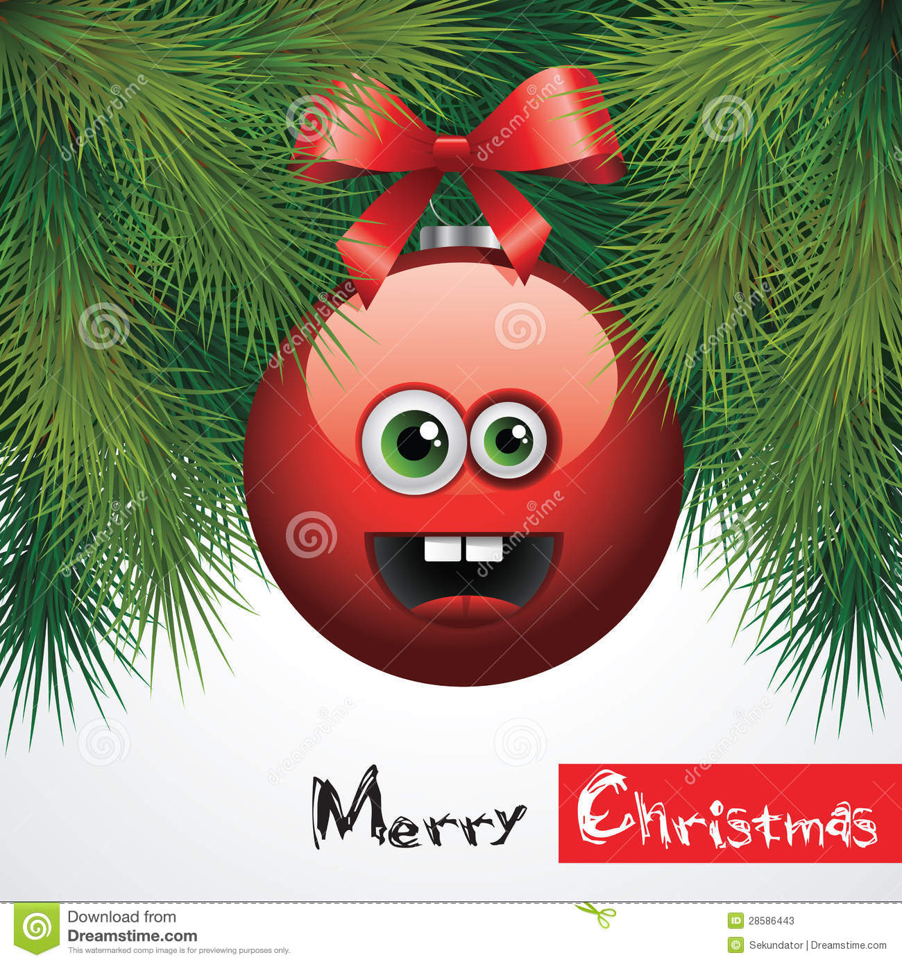 Lustige Weihnachtskugeln.Funny Christmas Ball Stock Vector Illustration Of Graphic 28586443