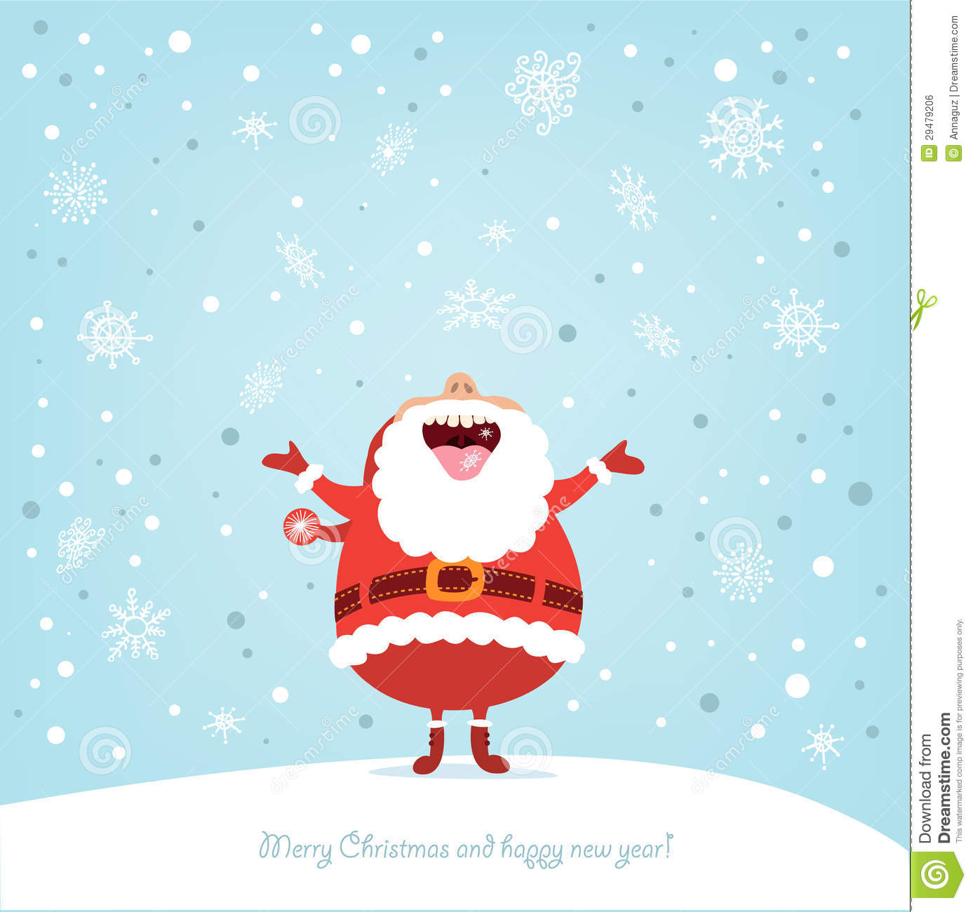 Funny Christmas Card With Santa Stock Vector Illustration Of