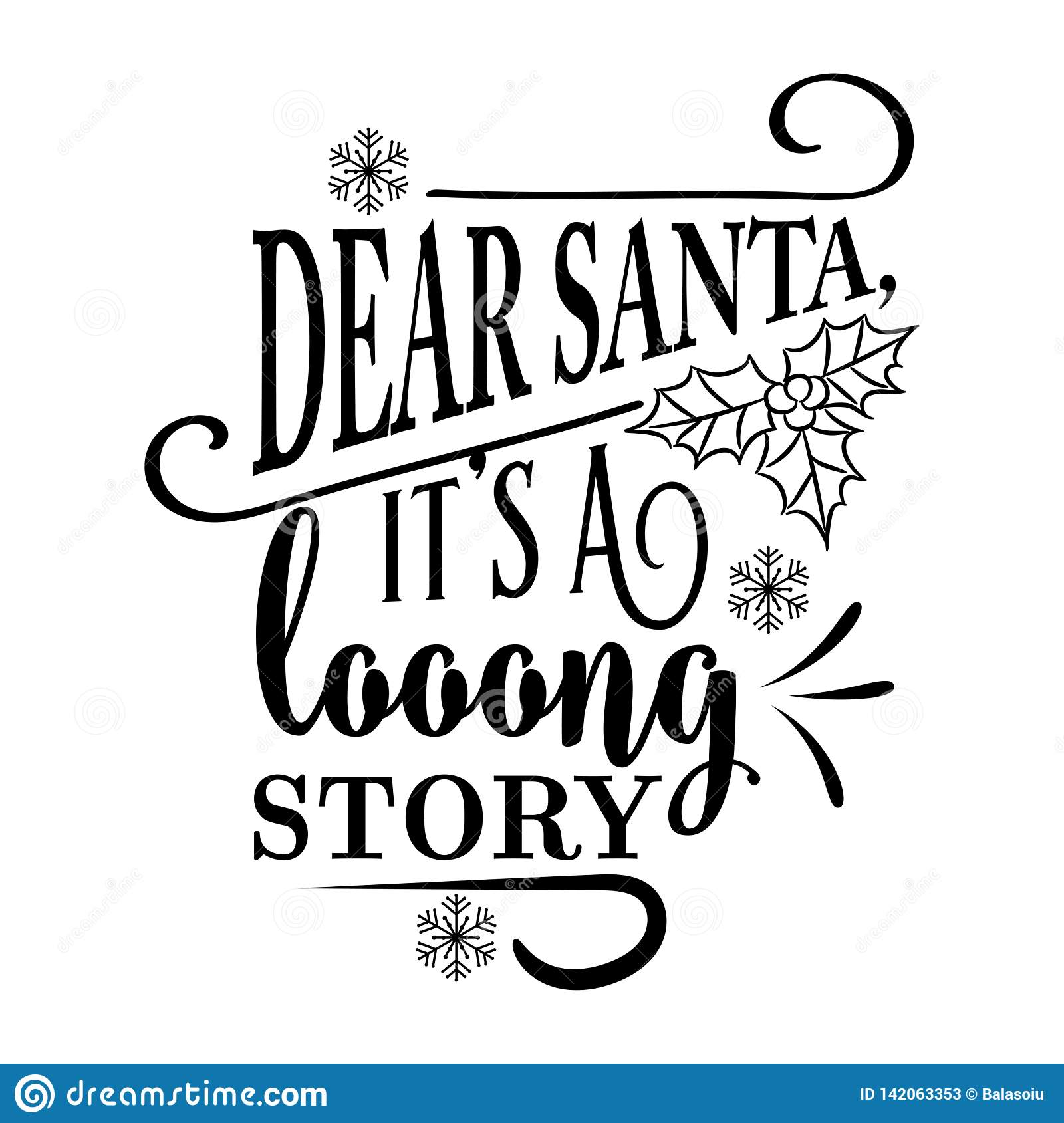Funny Christmas Quote Stock Vector Illustration Of