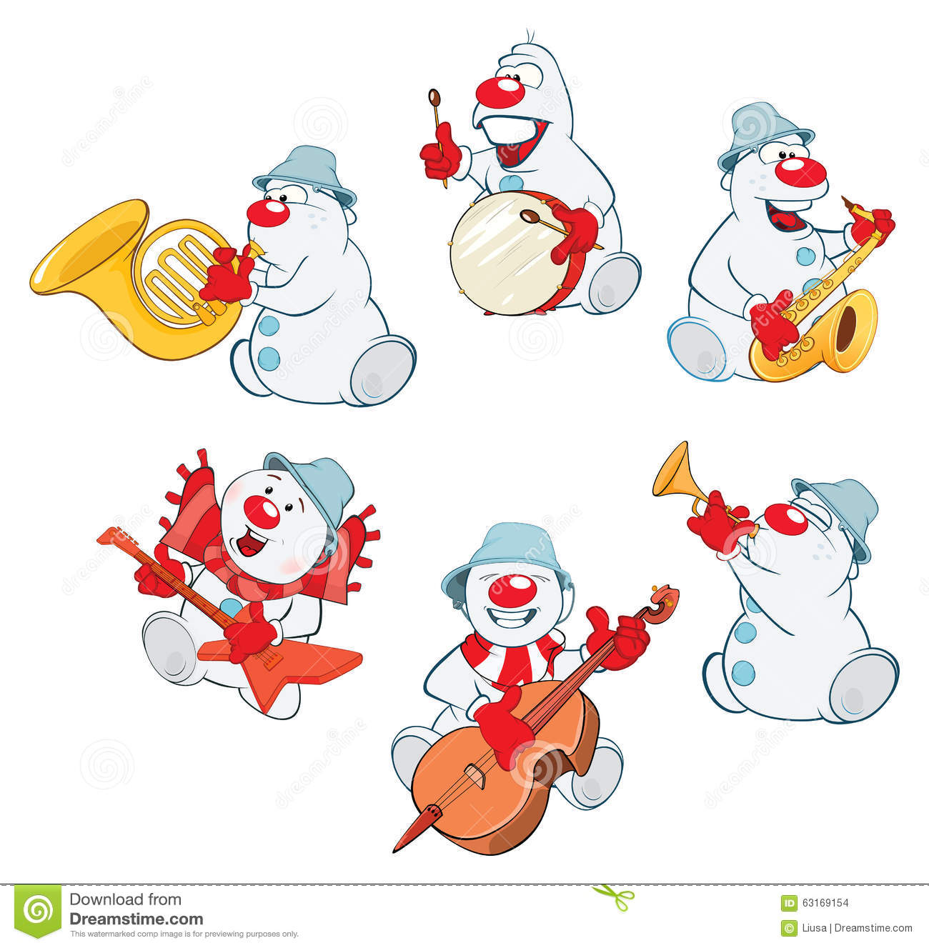 Funny Christmas Snowman For You Design Stock Vector - Image: 63169154