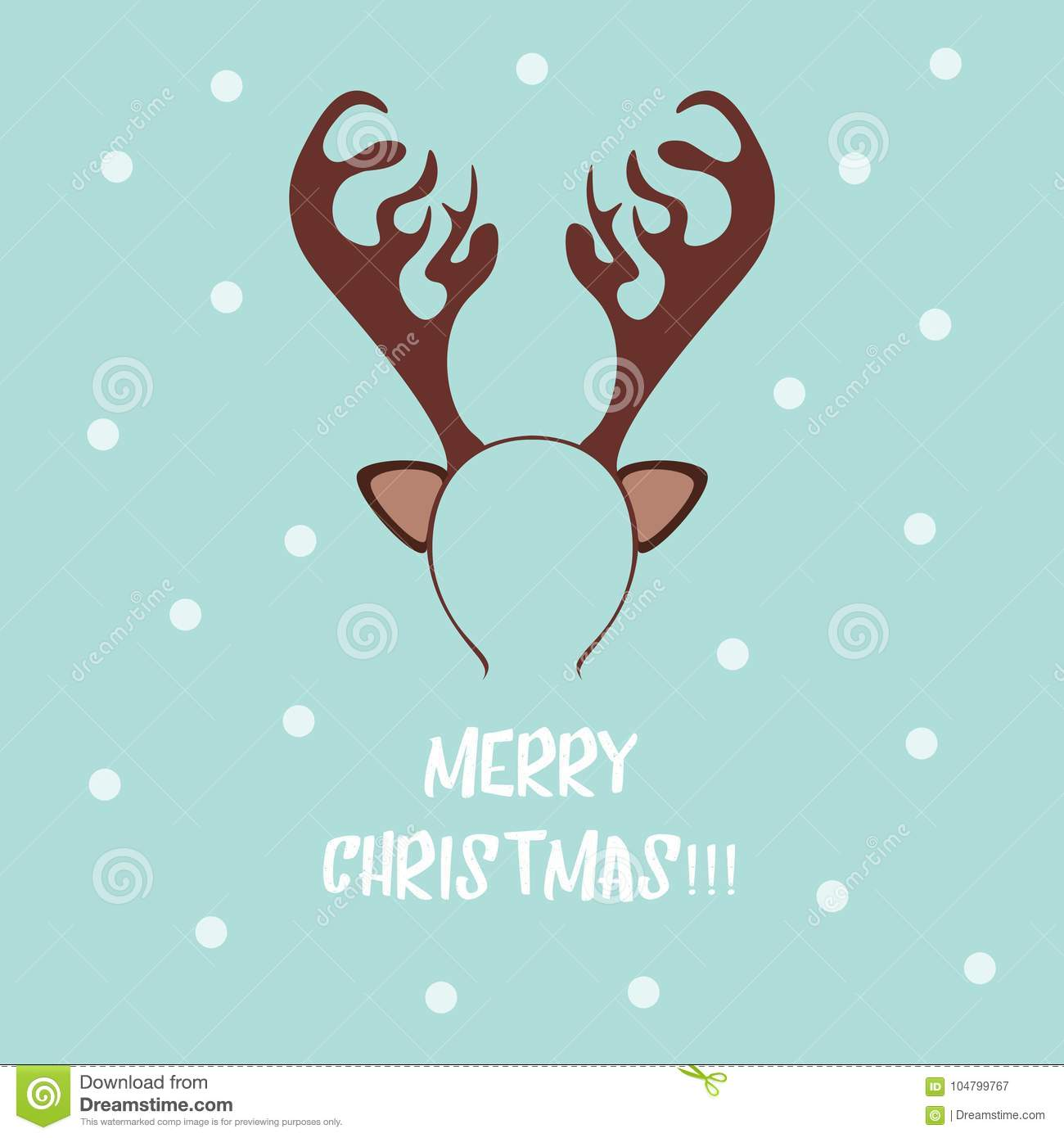 funny christmas tiara templates for picture reindeer antlers stock