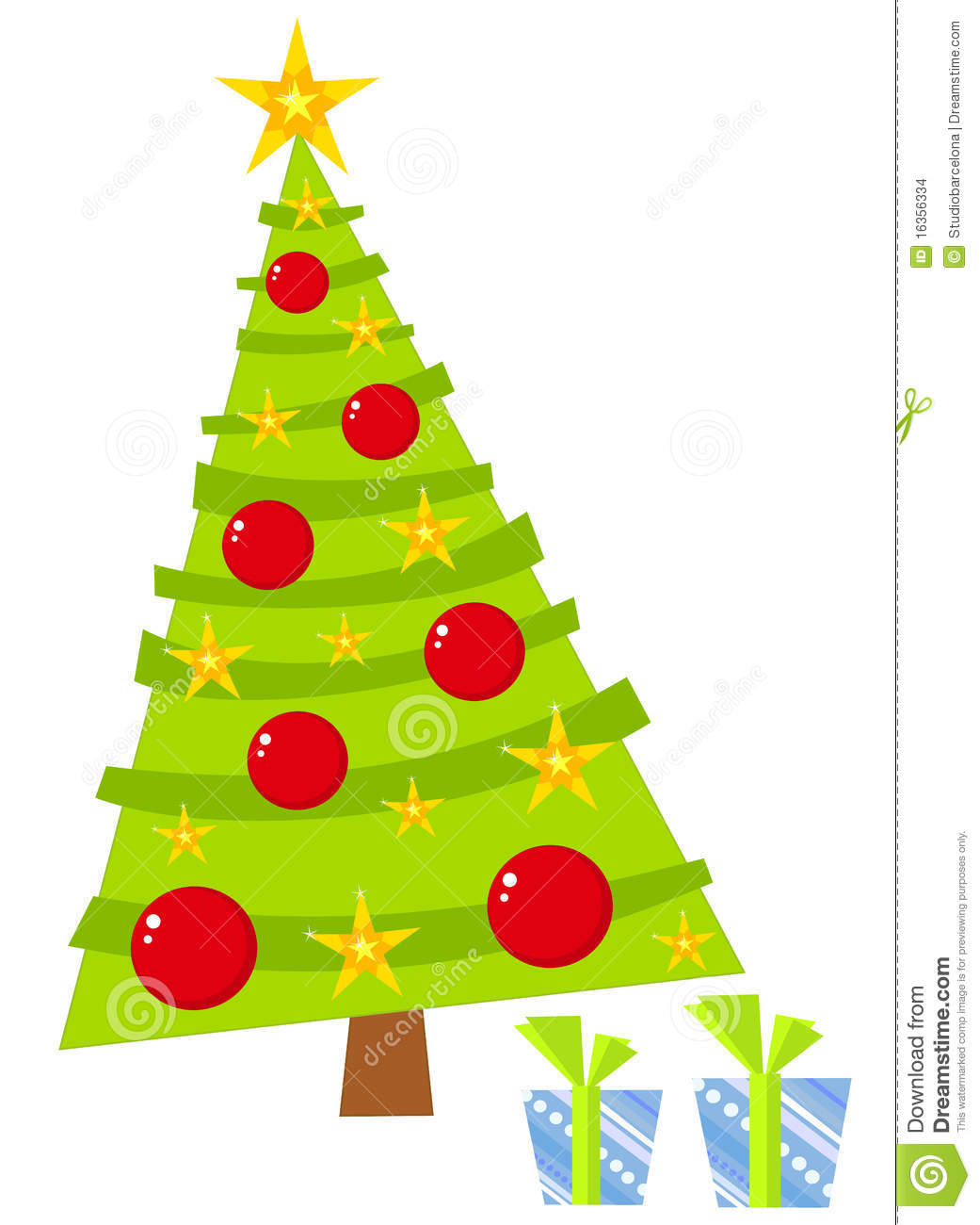 Funny christmas tree stock vector image of crooked white