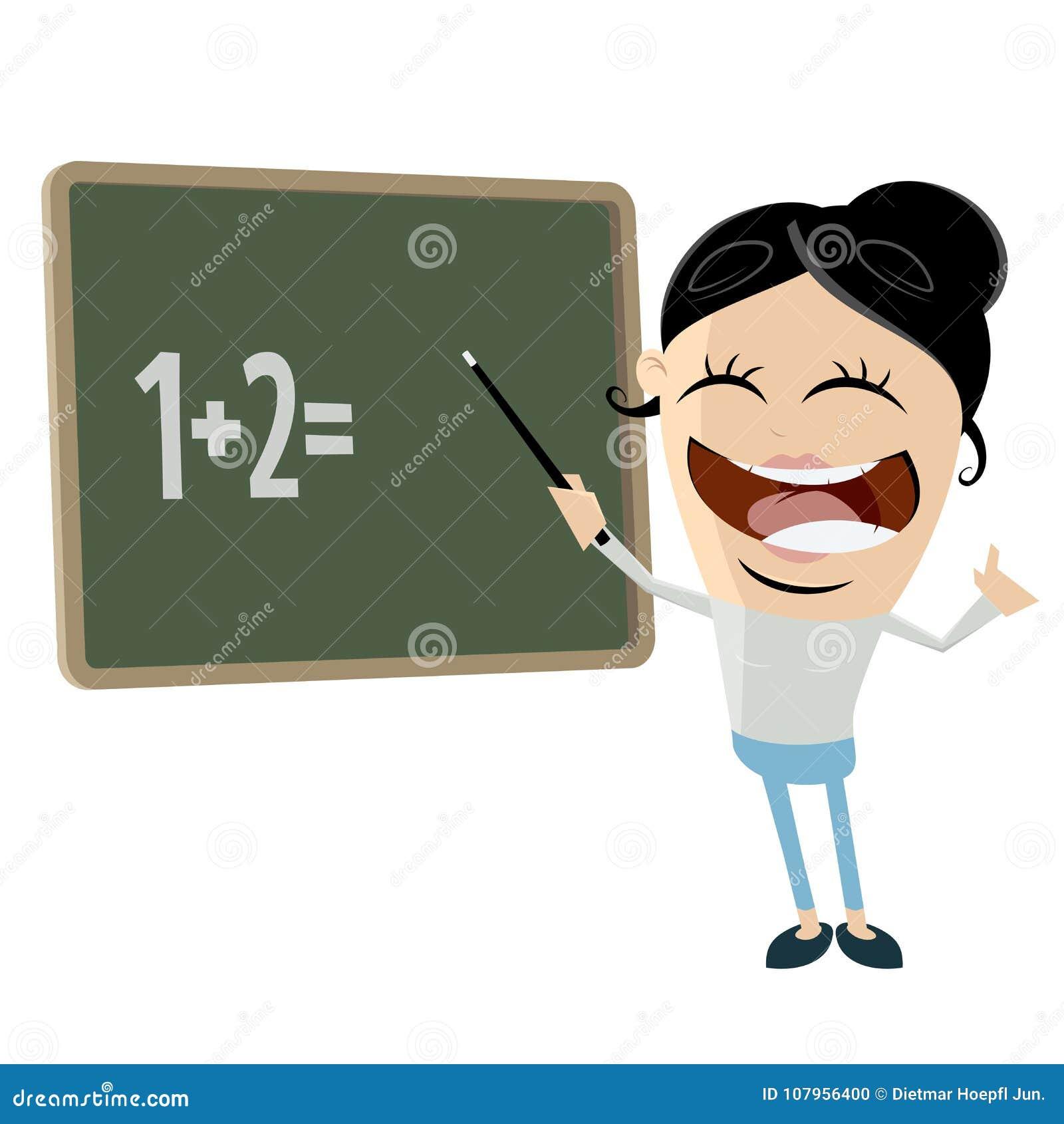 Funny Cartoon Clipart Of A Female Teacher Stock Vector ...