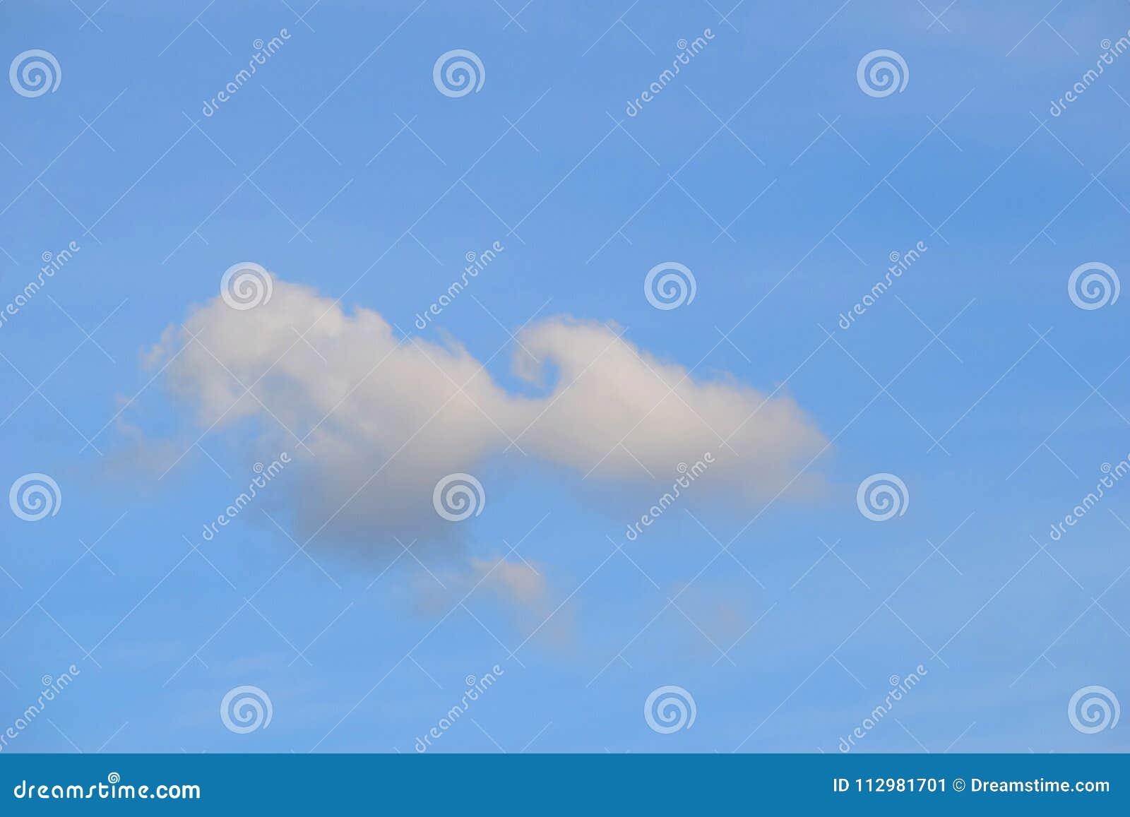 Funny cloud in a blue sky