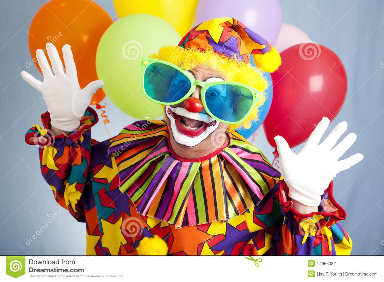 Funny Clown In Big Glasses Stock Photography - Image: 14956082