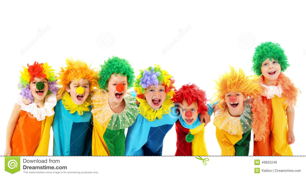 Funny Clowns At The Party Stock Photo - Image: 49825246
