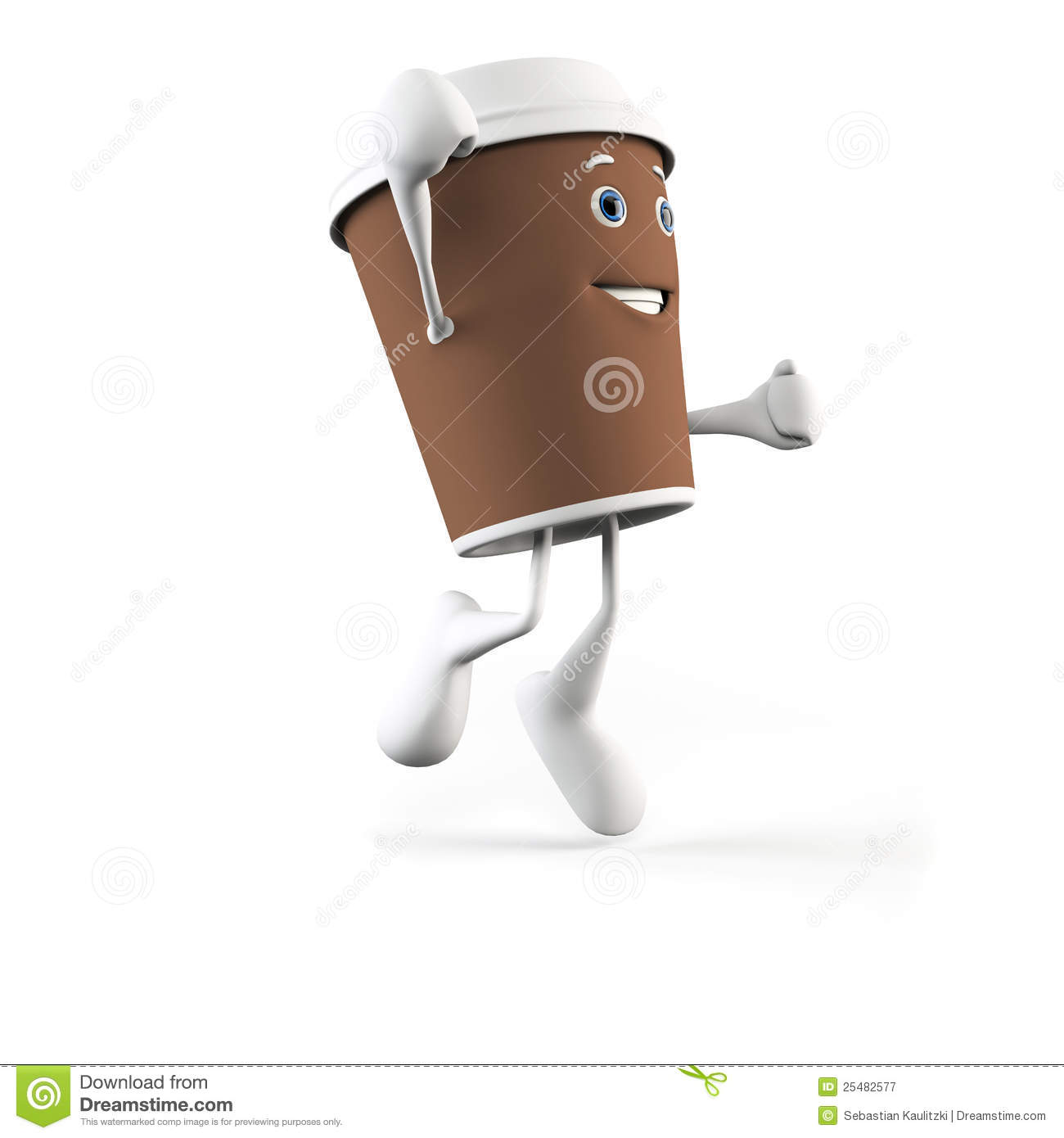 Funny Coffee Cup Royalty Free Stock Photography Image