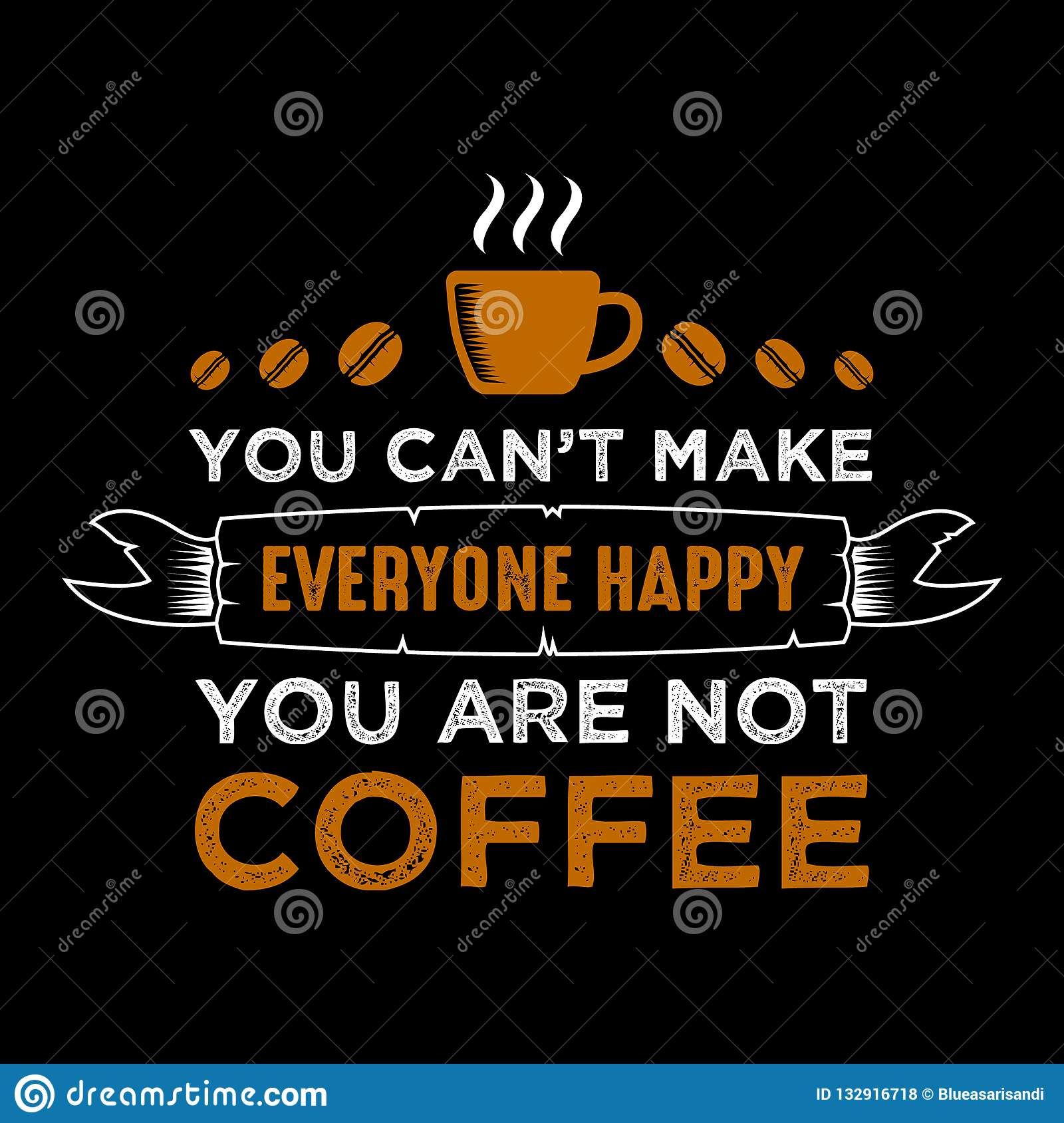 Funny Coffee Quote And Saying. Stock Vector - Illustration ...