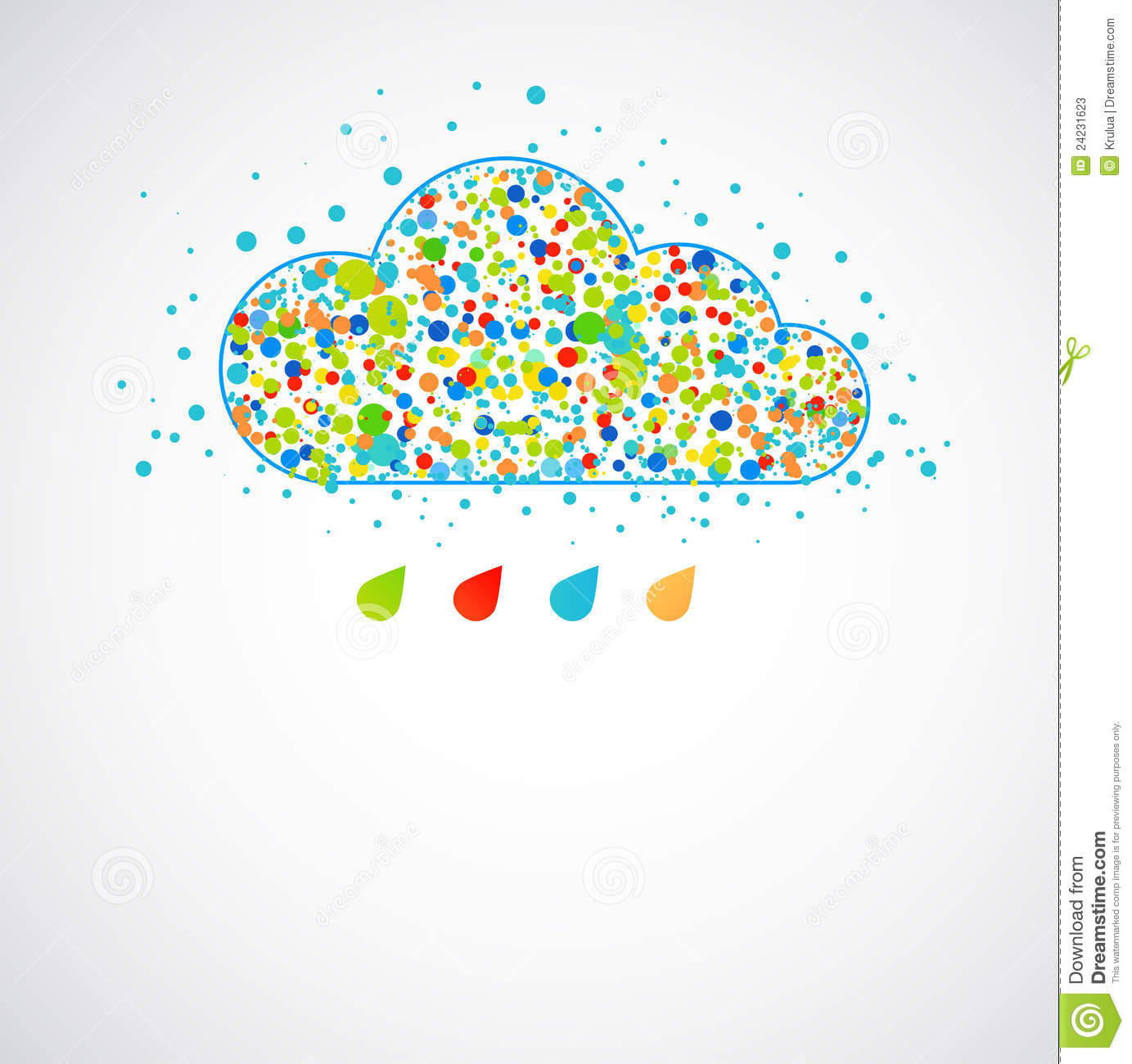 Stock Photos Funny Color Cloud Spring Rain