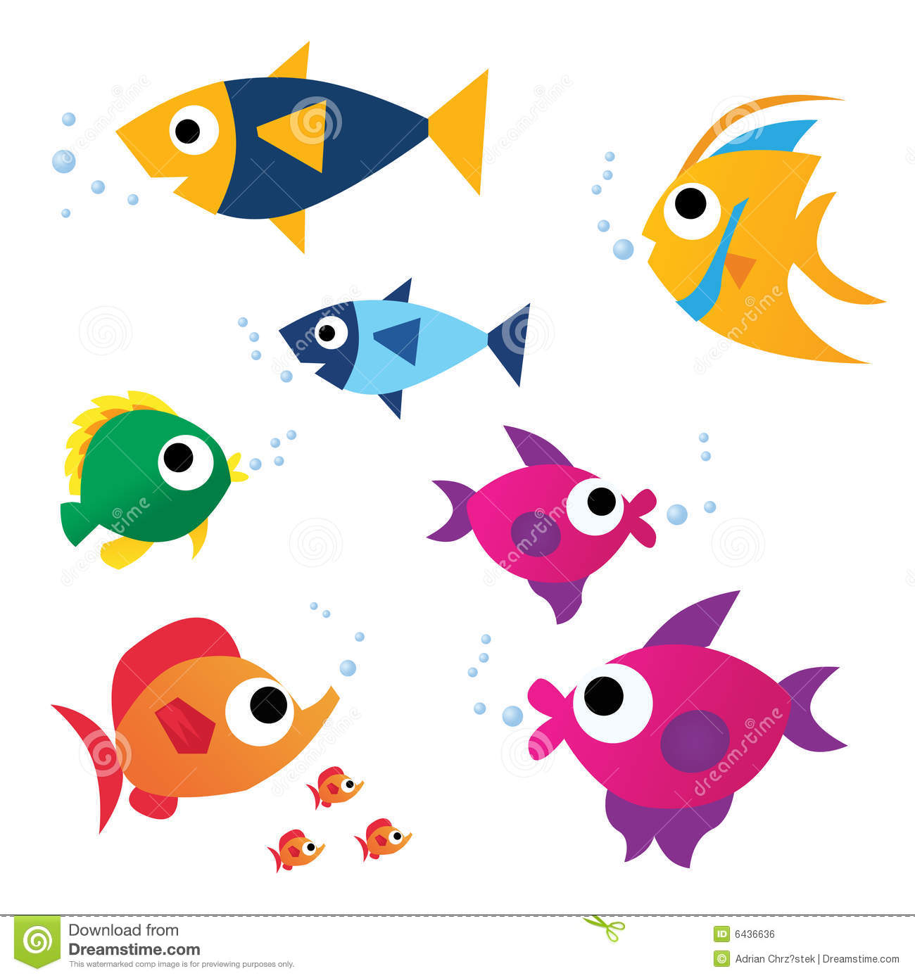Funny color fish royalty free stock image image 6436636 for What color are fish