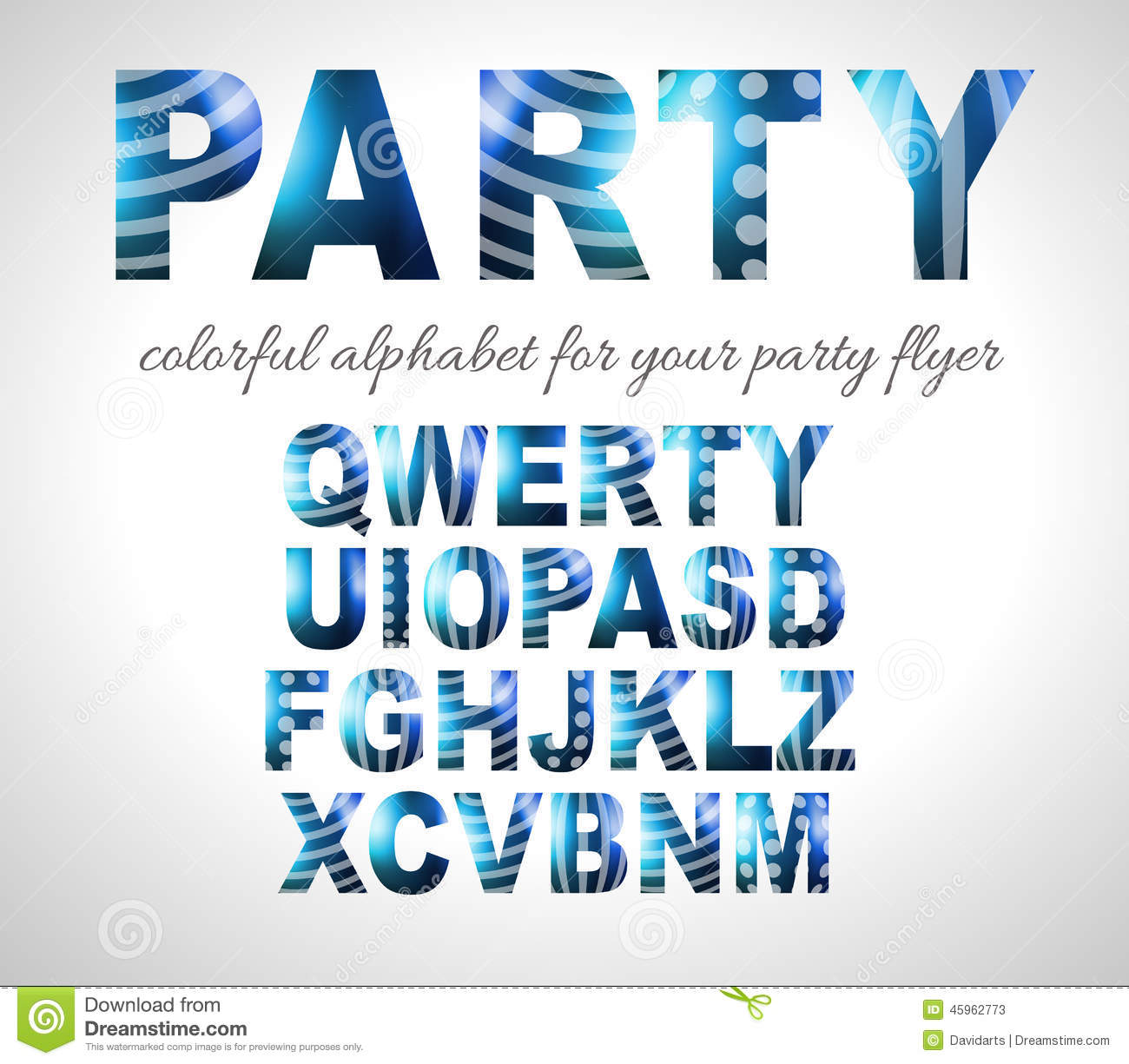 Funny Colorful Alphabet For Party Flyers Or Invitation Cards Stock ...
