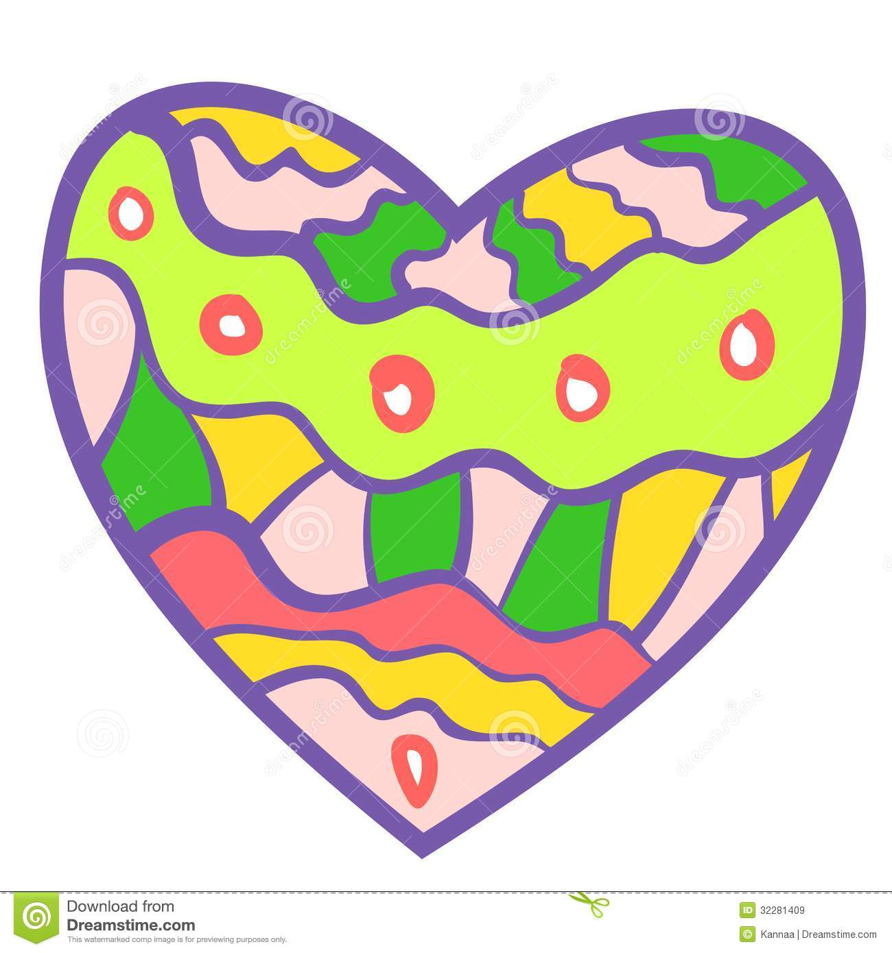 Funny Colorful Heart Background. Royalty Free Stock Images ...