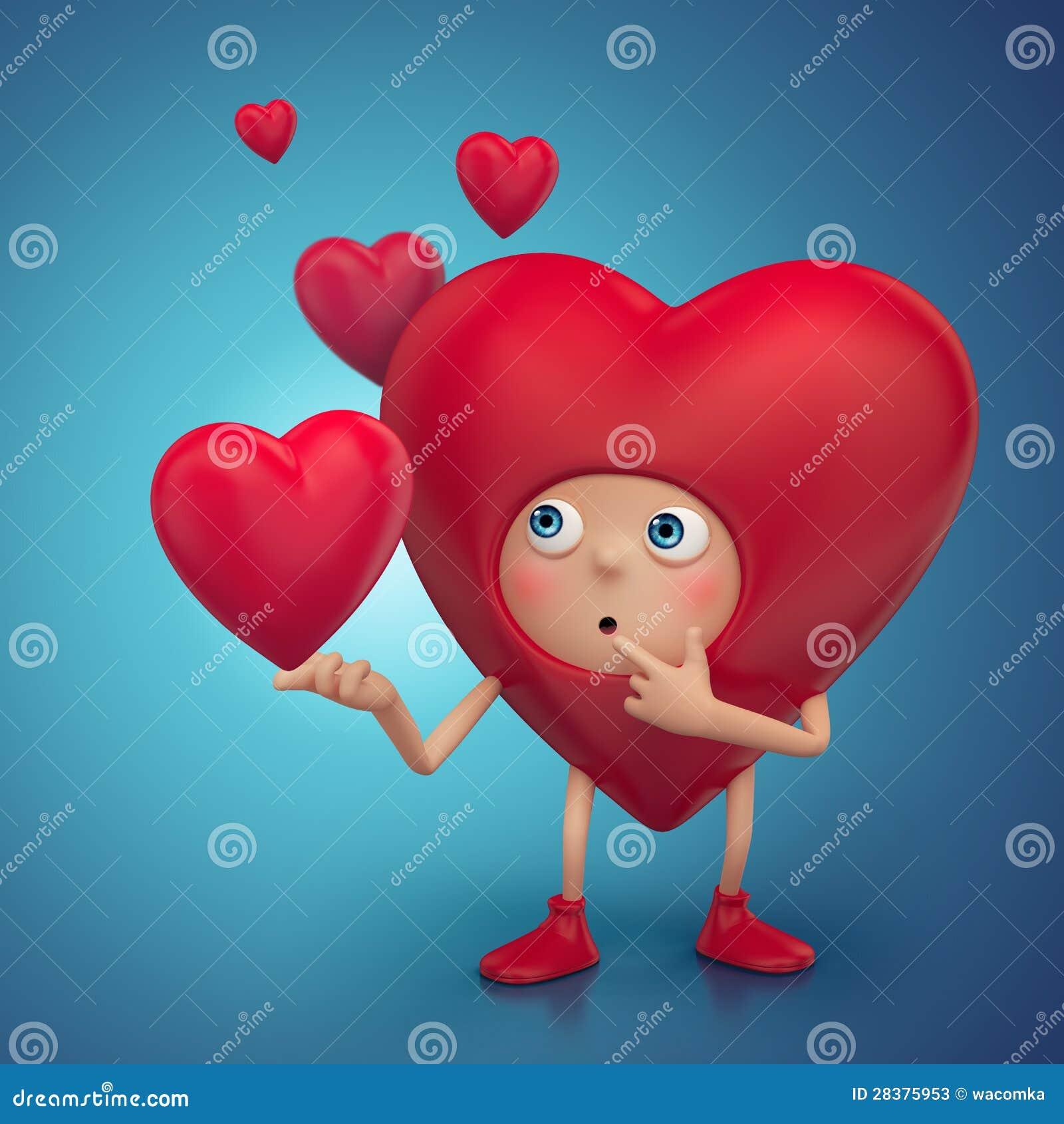 Imagenes de Corazones Funny-confused-heart-cartoon-character-28375953
