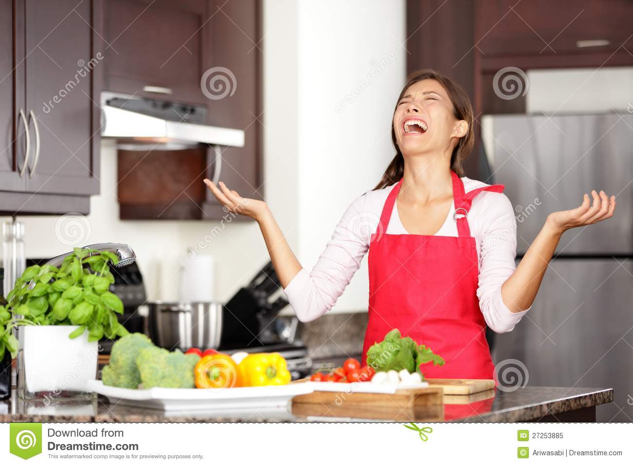 Funny Cooking Image Stock Of Chinese