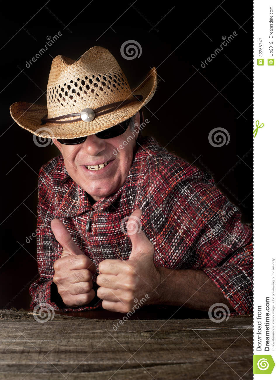 Funny Cowboy Making OK Hand Gesture Royalty Free Stock Photography ...