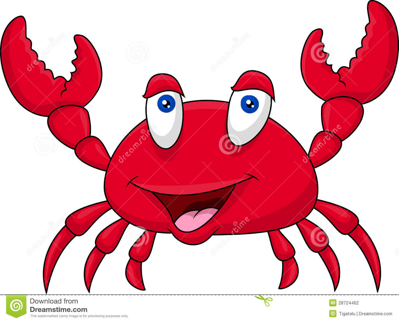 Funny crab cartoon stock vector. Illustration of exotic ...