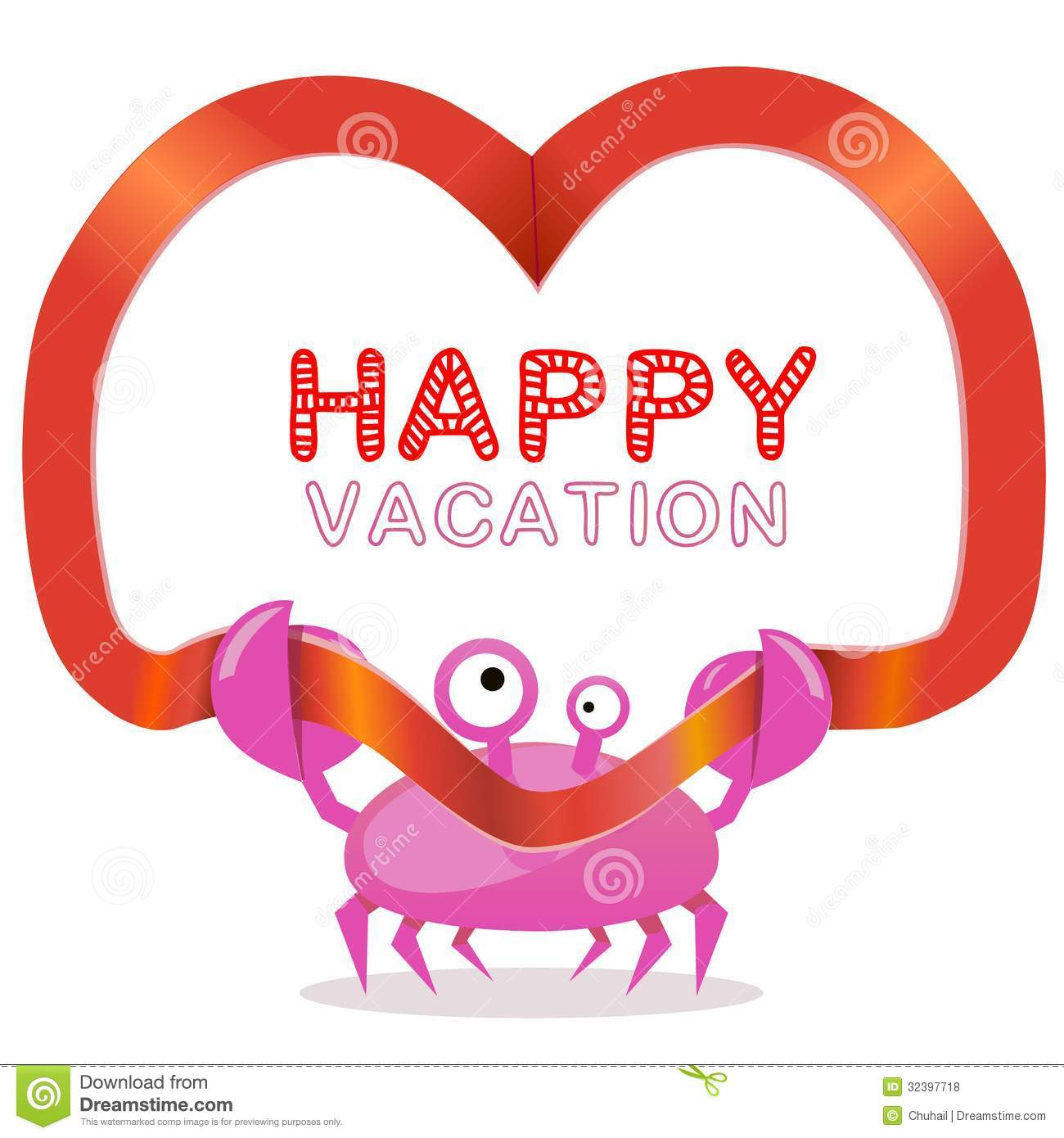 ... And Happy Vacation Text Royalty Free Stock Photos - Image: 32397718