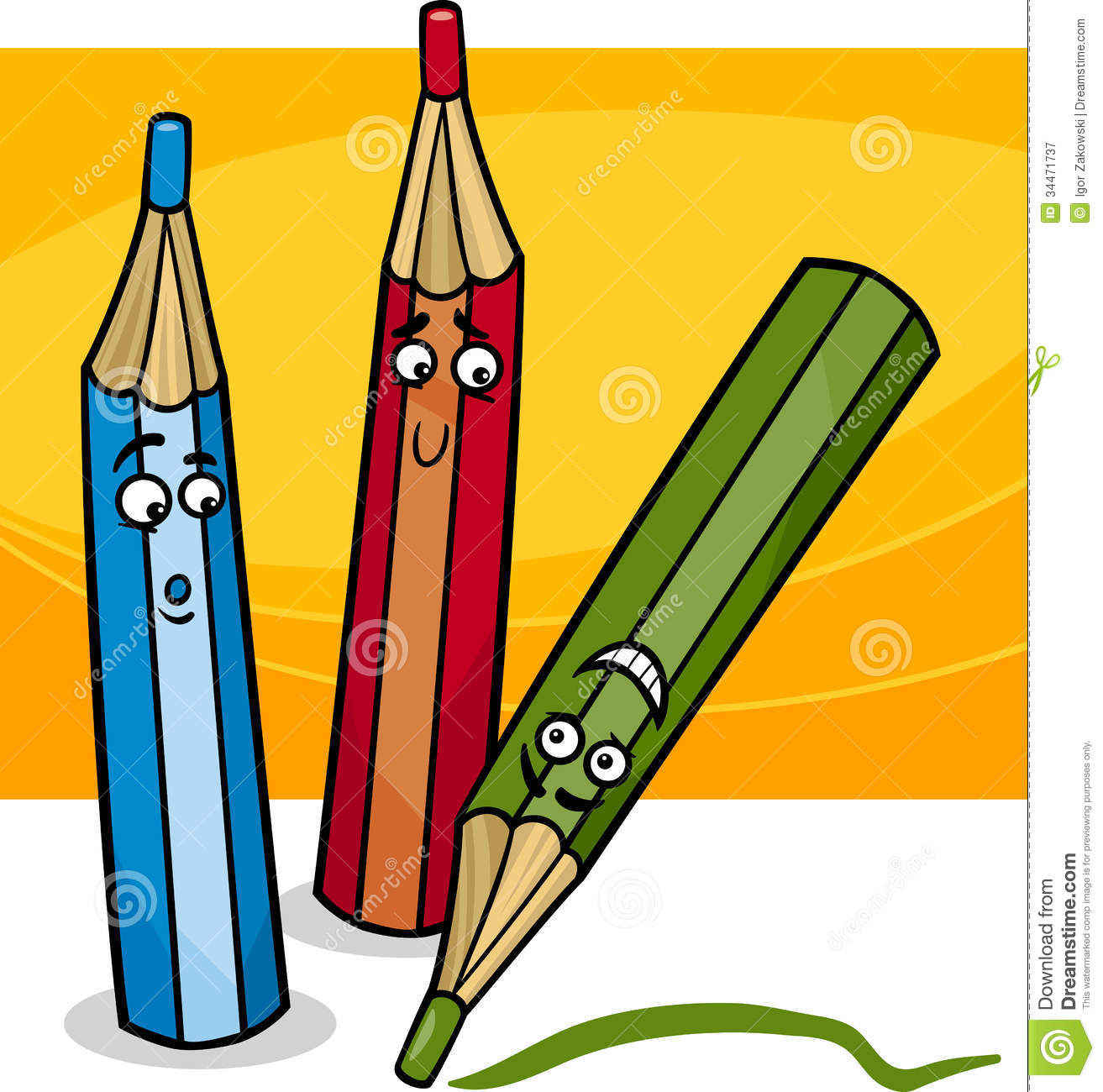 Crayons cartoon stock vector Illustration of black cute 26649161