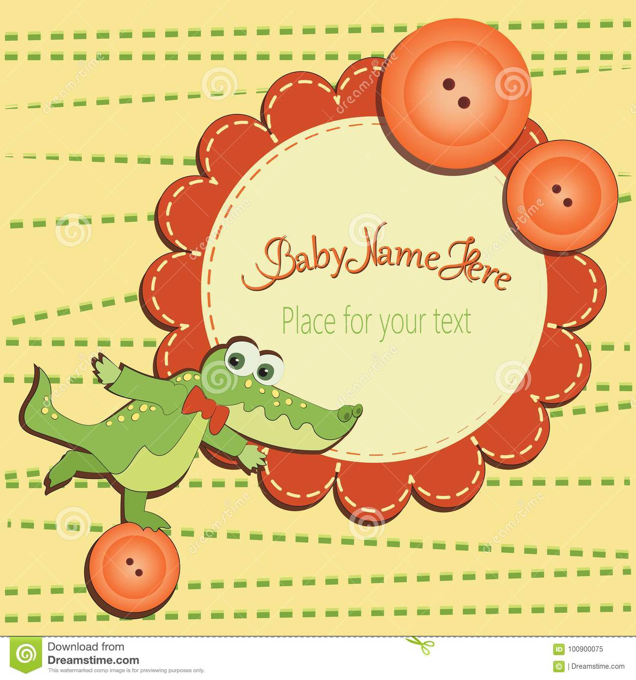 Funny crocodile on the button stock vector illustration of funny crocodile on the buttonby shower invitations to templates greetings with cute toys a place for your text gift box design with letters and m4hsunfo